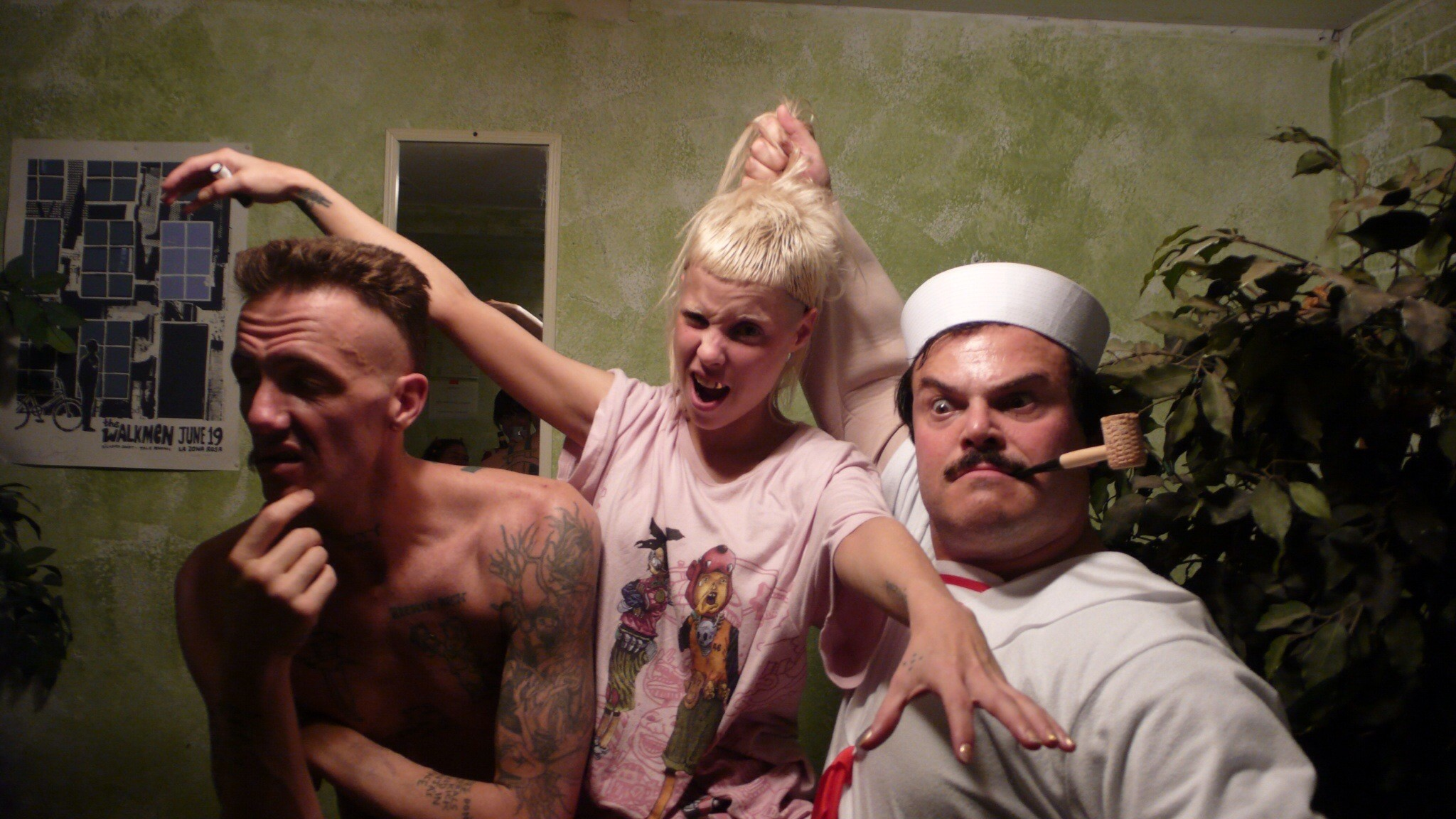 2048x1152 Die Antwoord and Jack Black hanging out.