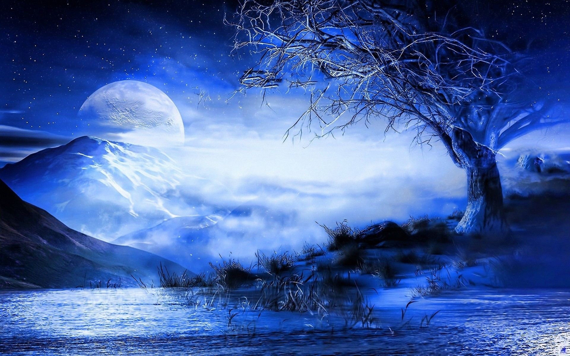 blue moon wallpaper (63+ images)
