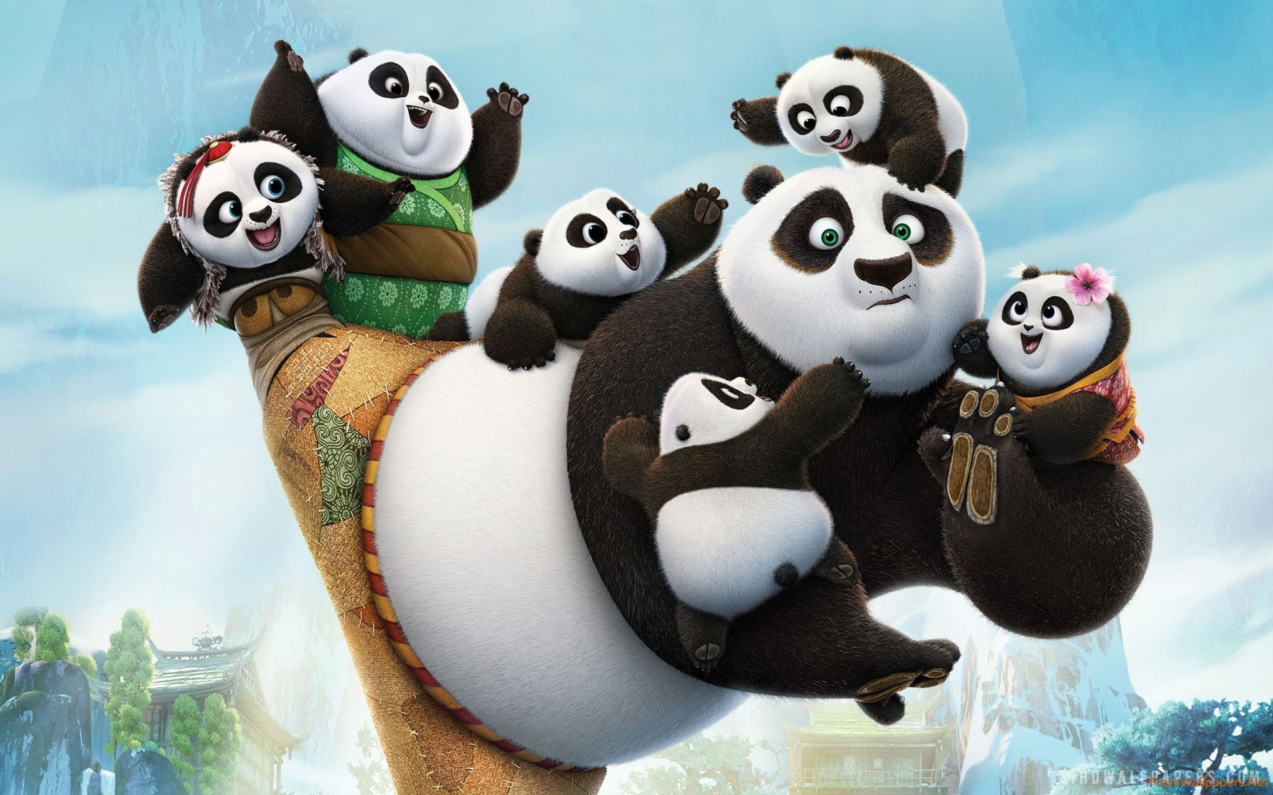 2560x1600 Kung Fu Panda 3 iPhone wallpapers