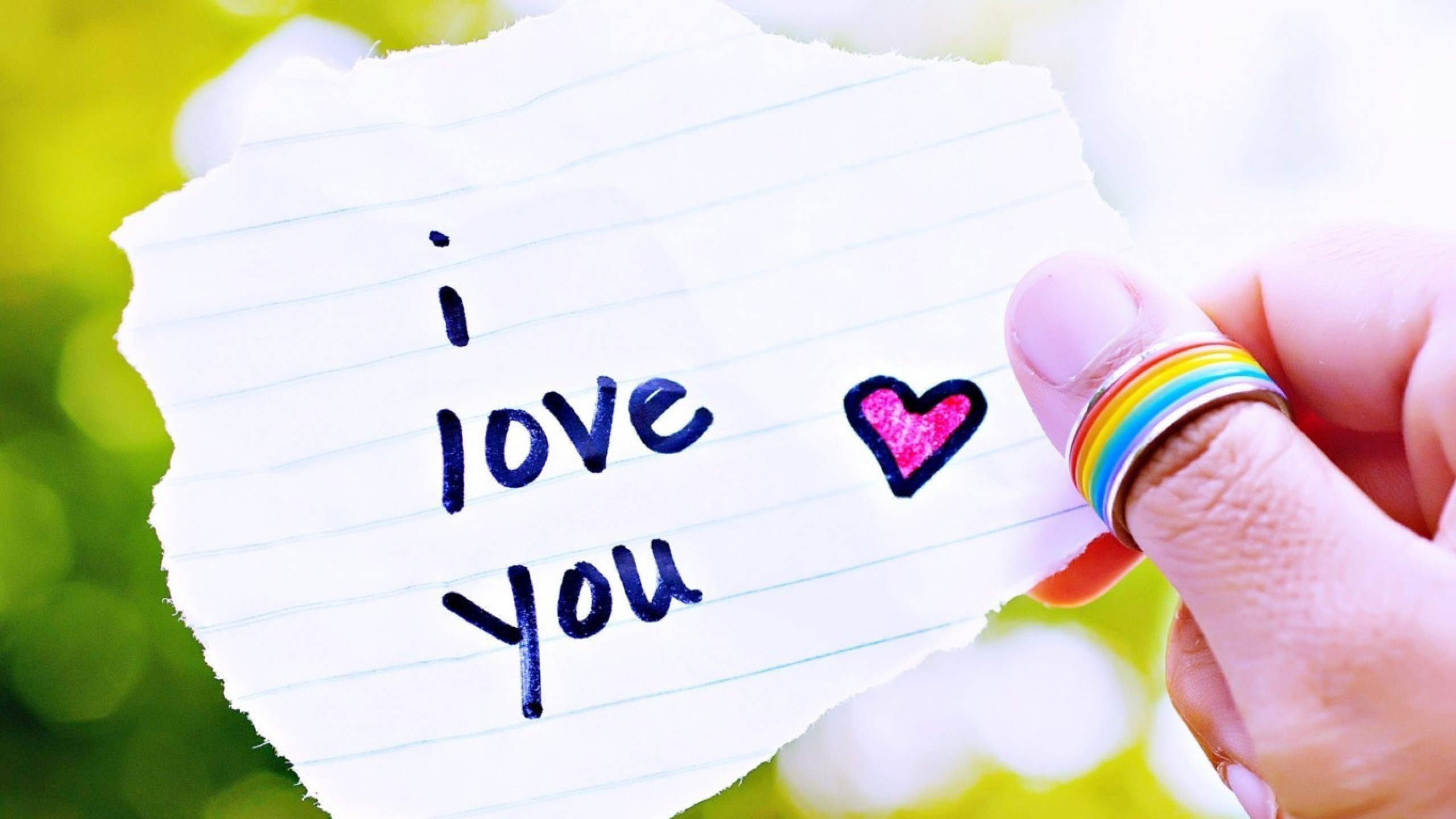 2560x1440 I Love You HD Wallpaper