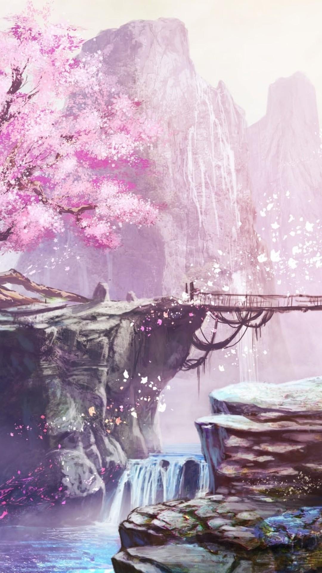 Cherry blossoms iphone wallpaper 75 images - Portrait anime wallpaper ...