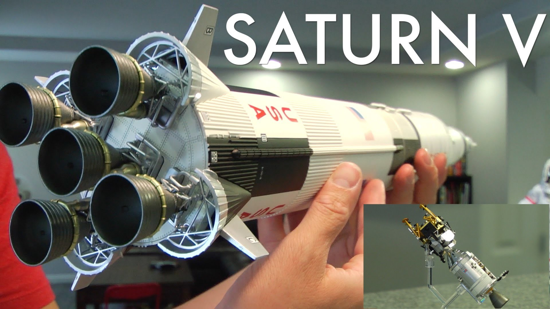 1920x1080 SATURN V ROCKET Apollo 13 edt. Bandai Tamashii Nations 1/144 scale NASA  April. 11, 1970 - YouTube