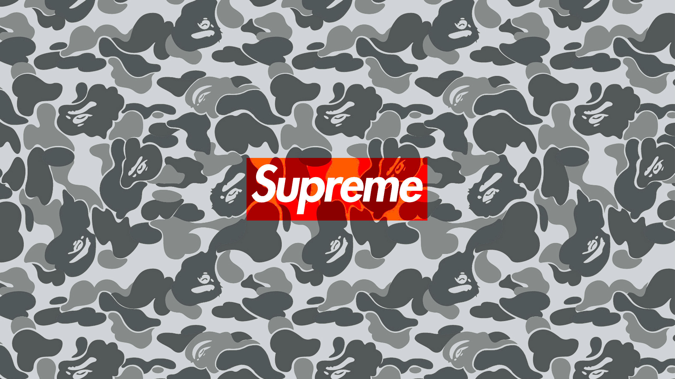 2560x1440 Download the Supreme Bape Camo wallpaper below for your mobile device  (Android phones, iPhone etc.)