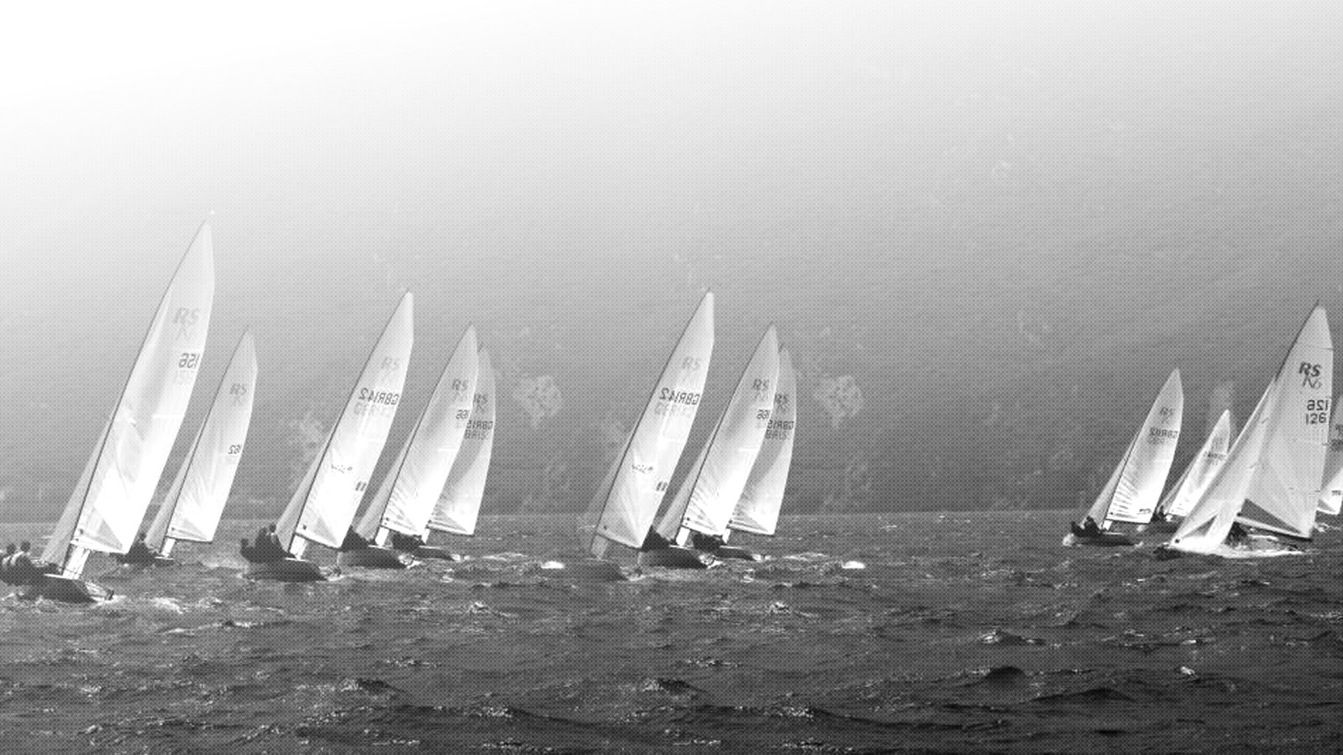 1920x1080 vintage sailing race black and white