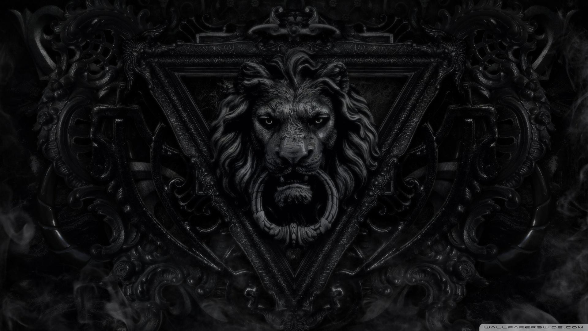 1920x1080 1600x900 Free Lion Black And White Wallpaper 1080p Â« Long Wallpapers