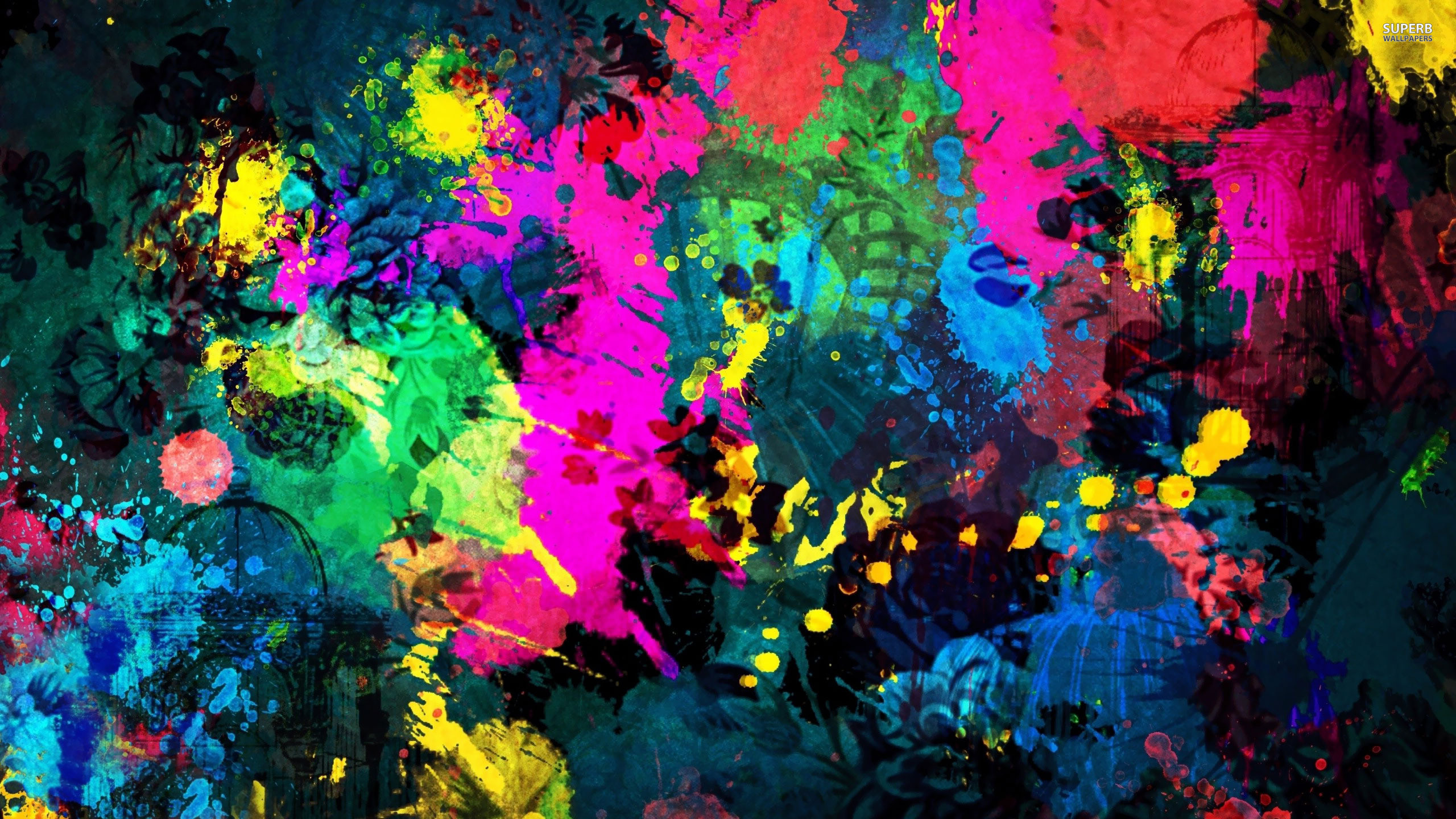 2560x1440 Colorful paint splatter wallpaper  jpg