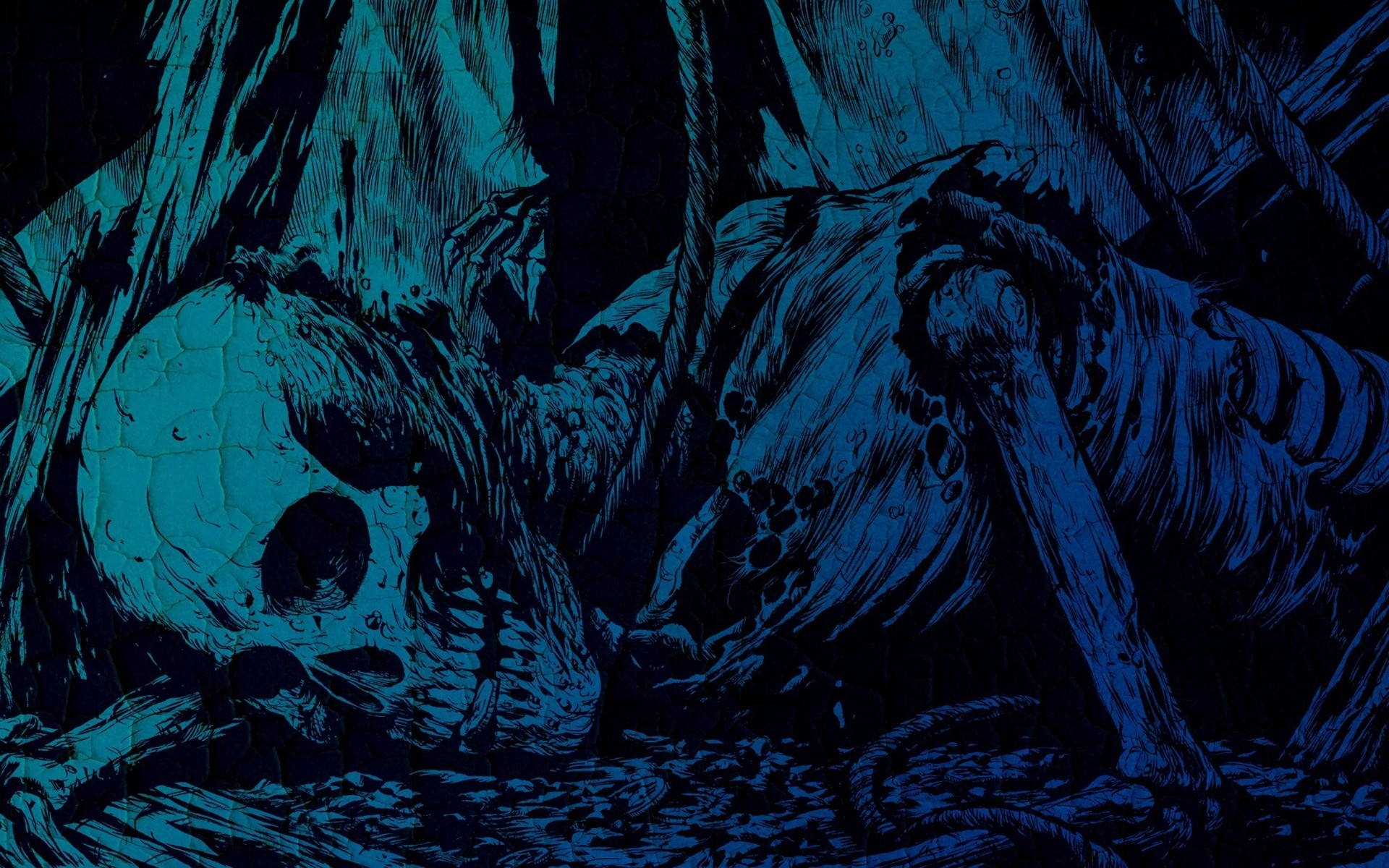 Incredible Neon Skull Wallpaper: Blue Skull Wallpaper (59+ Images