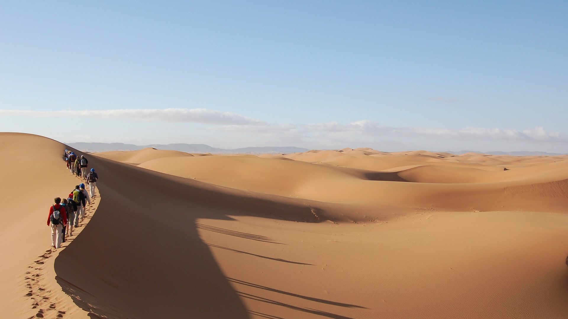 1920x1080 People Adventure Sahara Desert Sand HD Wallpaper