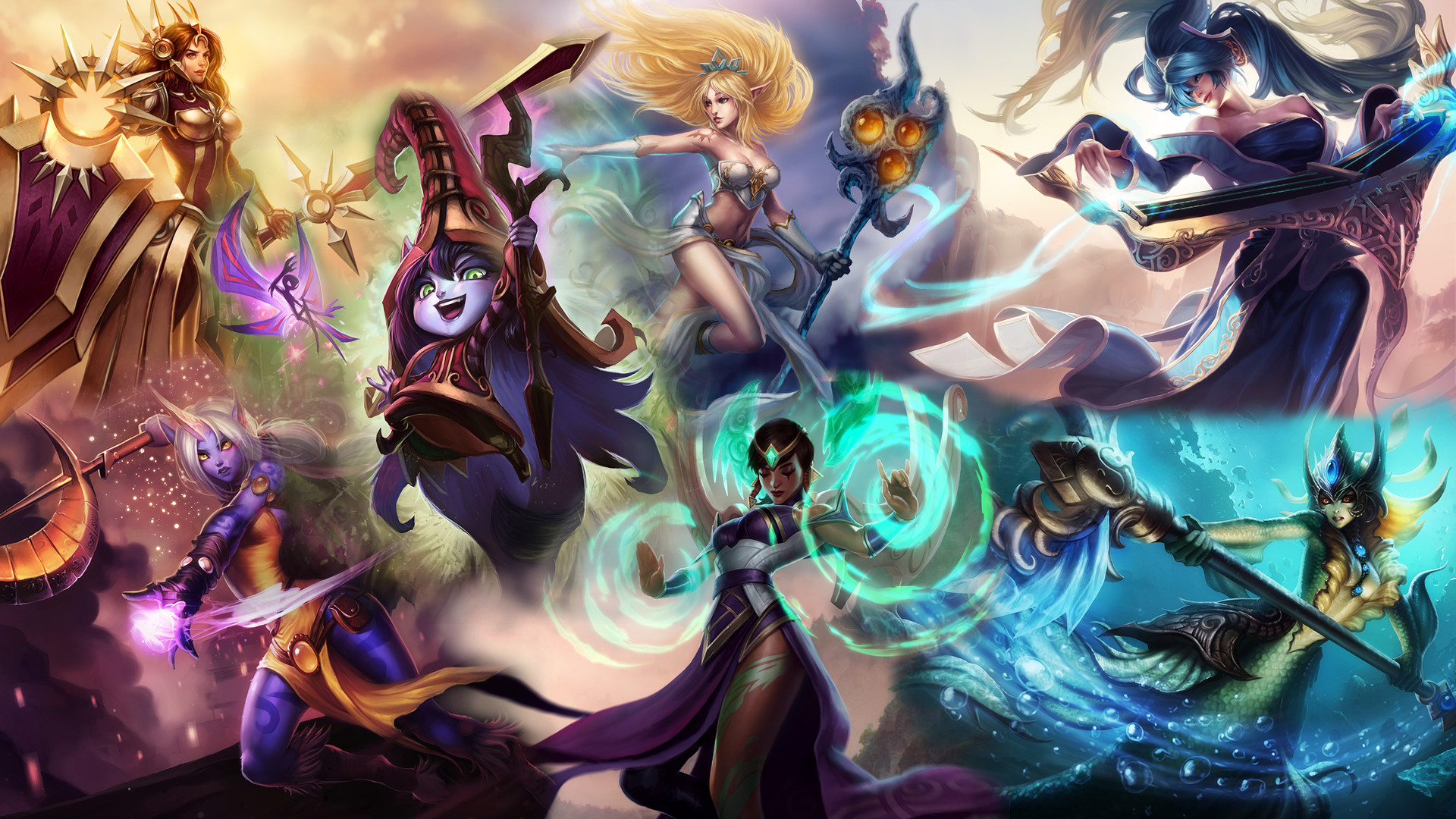 1920x1080 ... League of Female Support Power! by DioHard