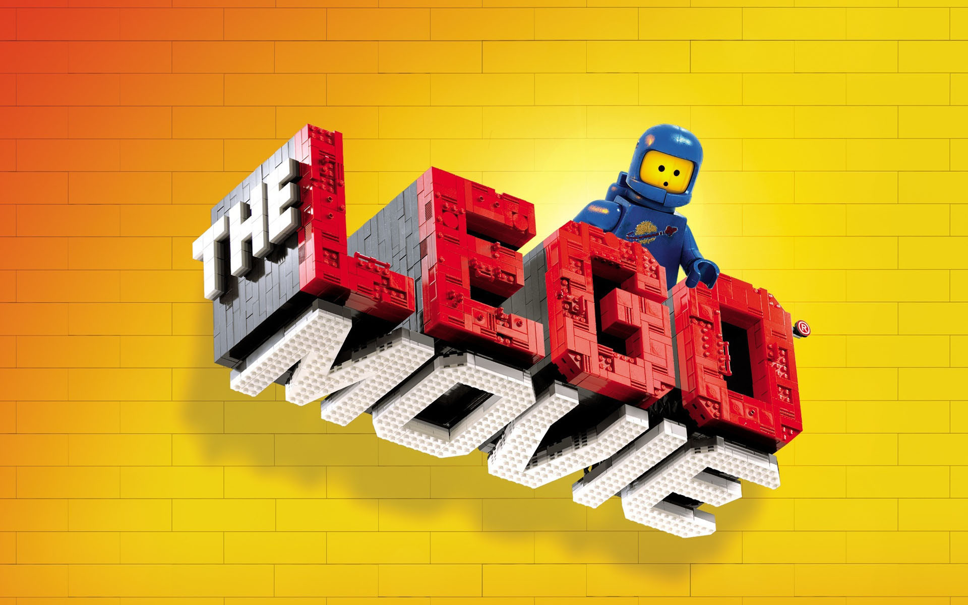 1920x1200 The Lego Movie Videogame Logo with the Blue Classic Spaceman   wallpaper