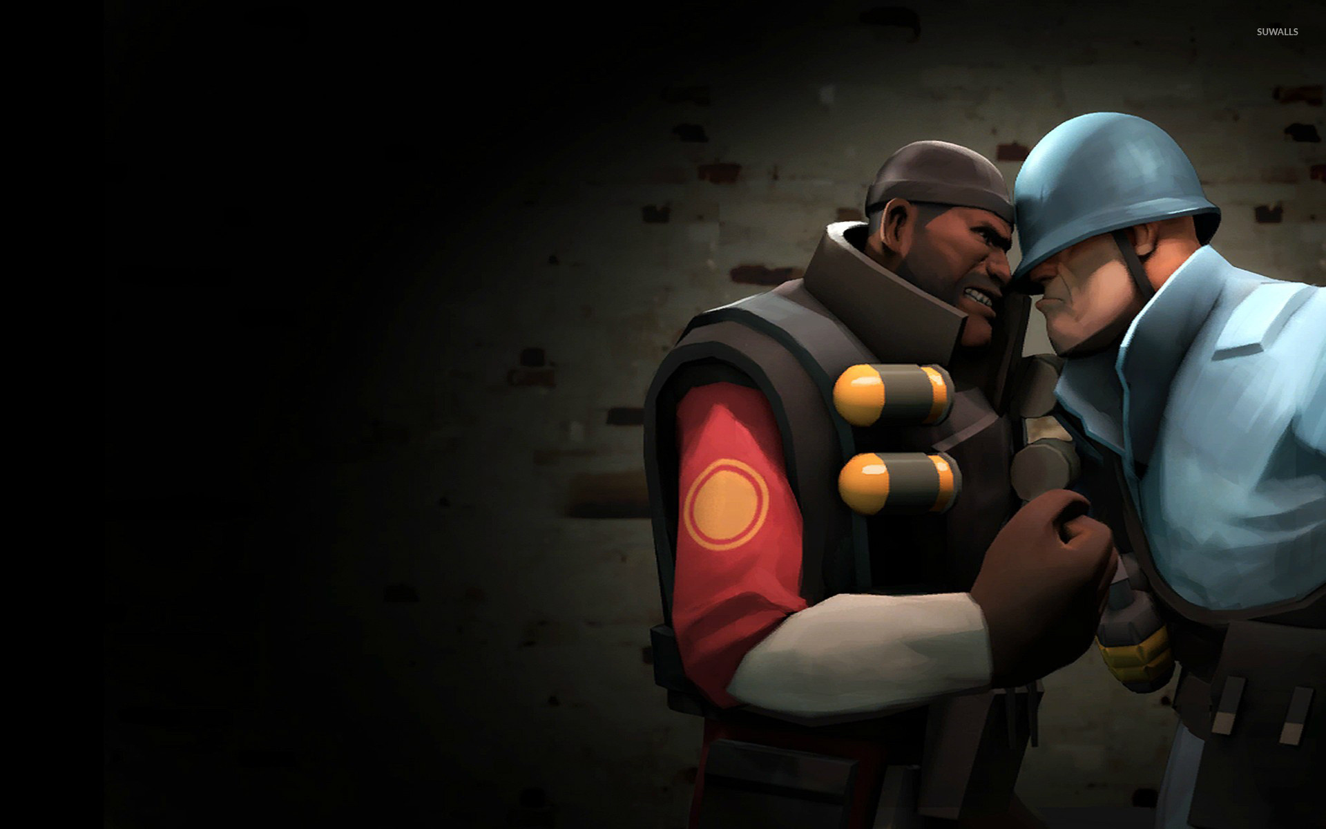 1920x1200 TF2 Demoman vs Soldier wallpaper - Game wallpapers - #15105