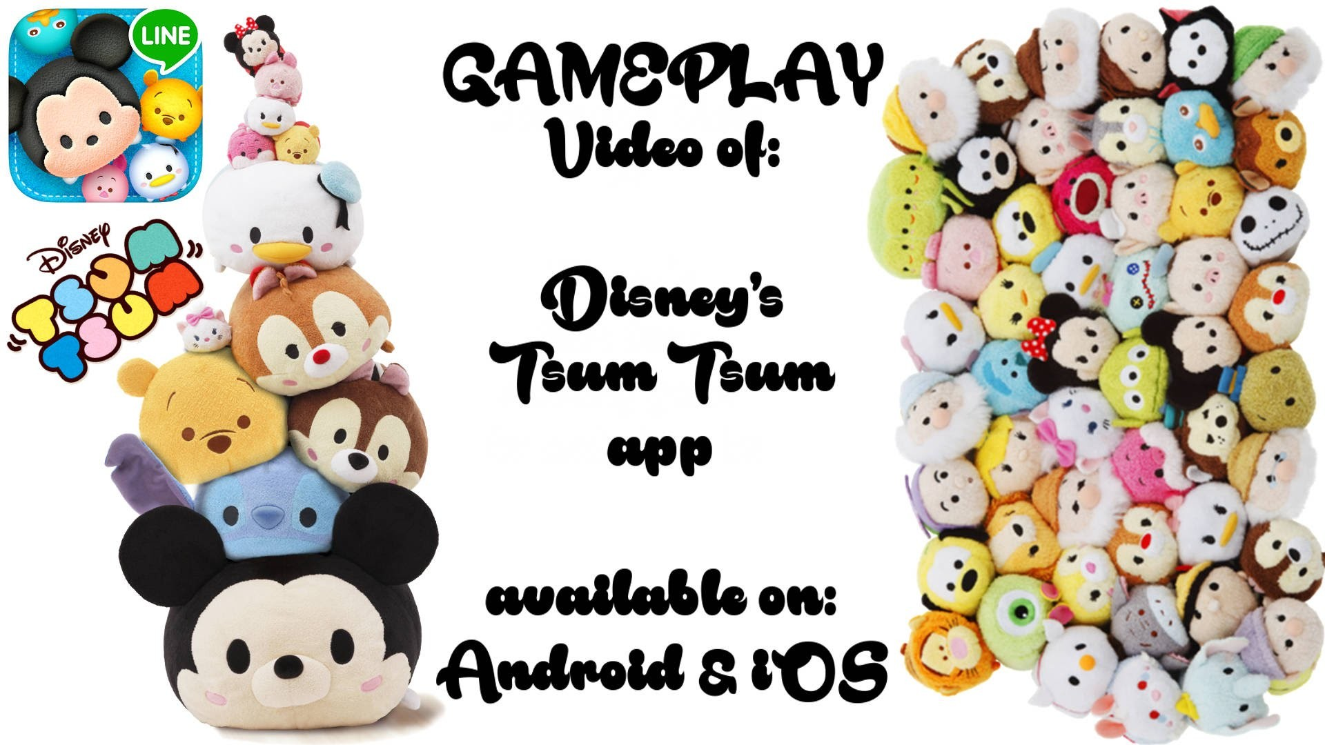 1920x1080 my 1st GAMEPLAY VIDEO: Disney's TSUM TSUM stacking video game from Line App  on Android & iOS