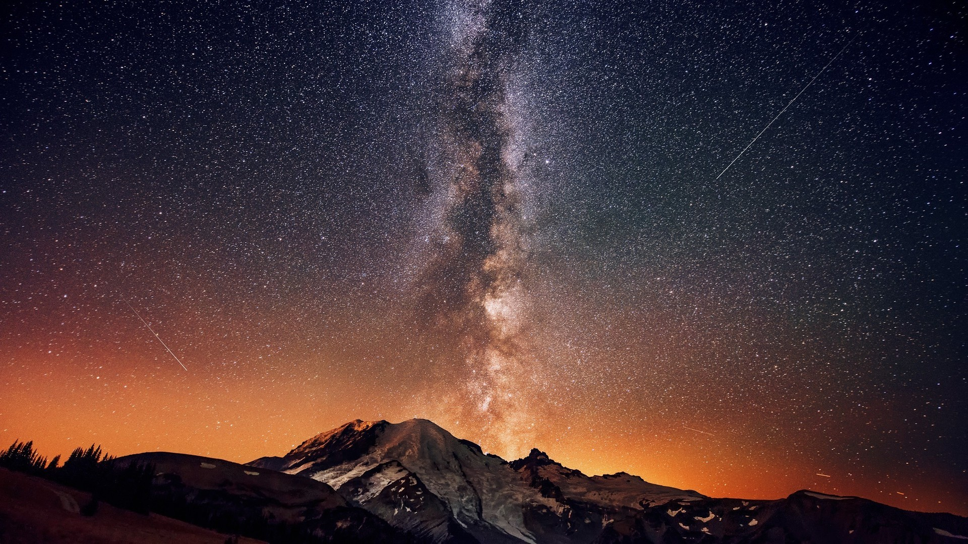1920x1080 Milky Way above the mountains HD Wallpaper  Milky ...