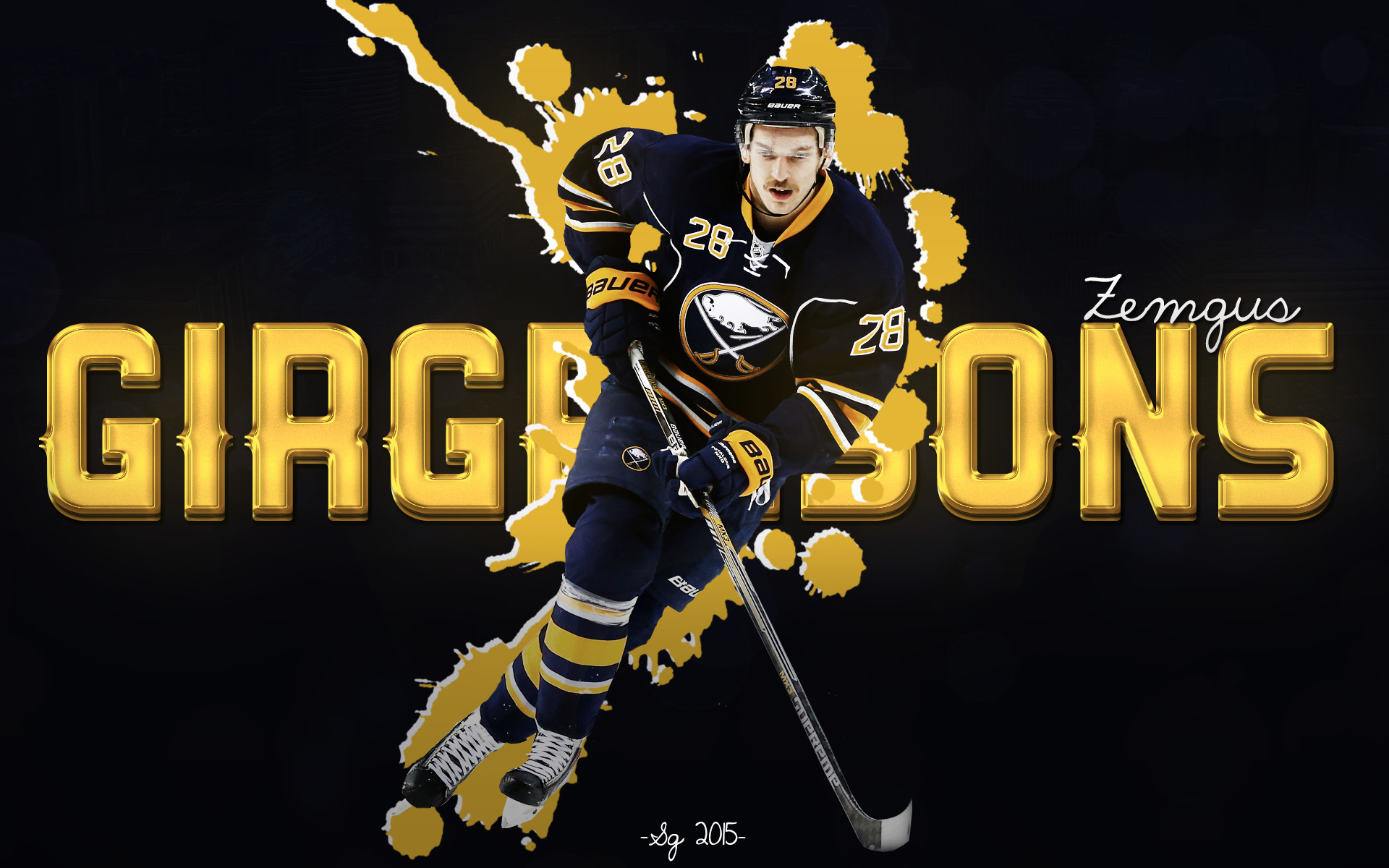1920x1200 Zemgus Girgensons Buffalo Sabres Wallpaper by SGRGFX