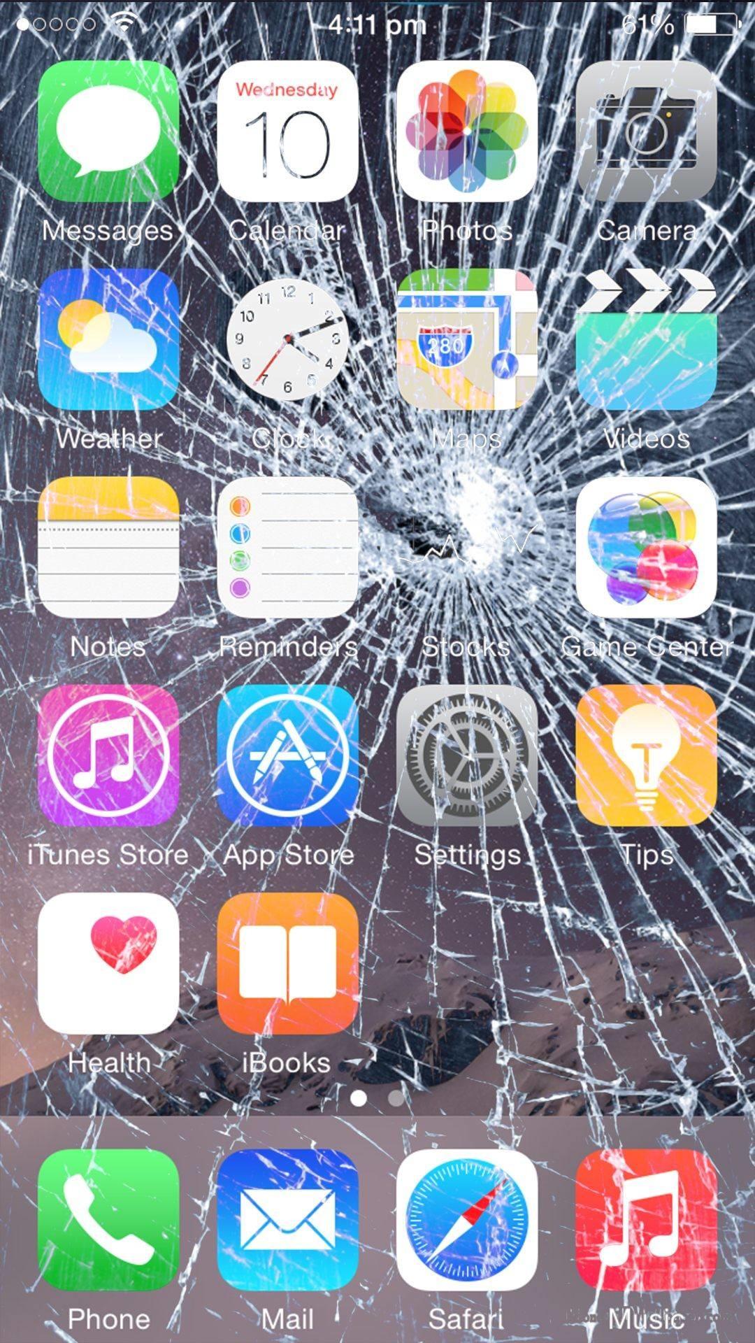 Broken Phone Screen Wallpaper 60 Images