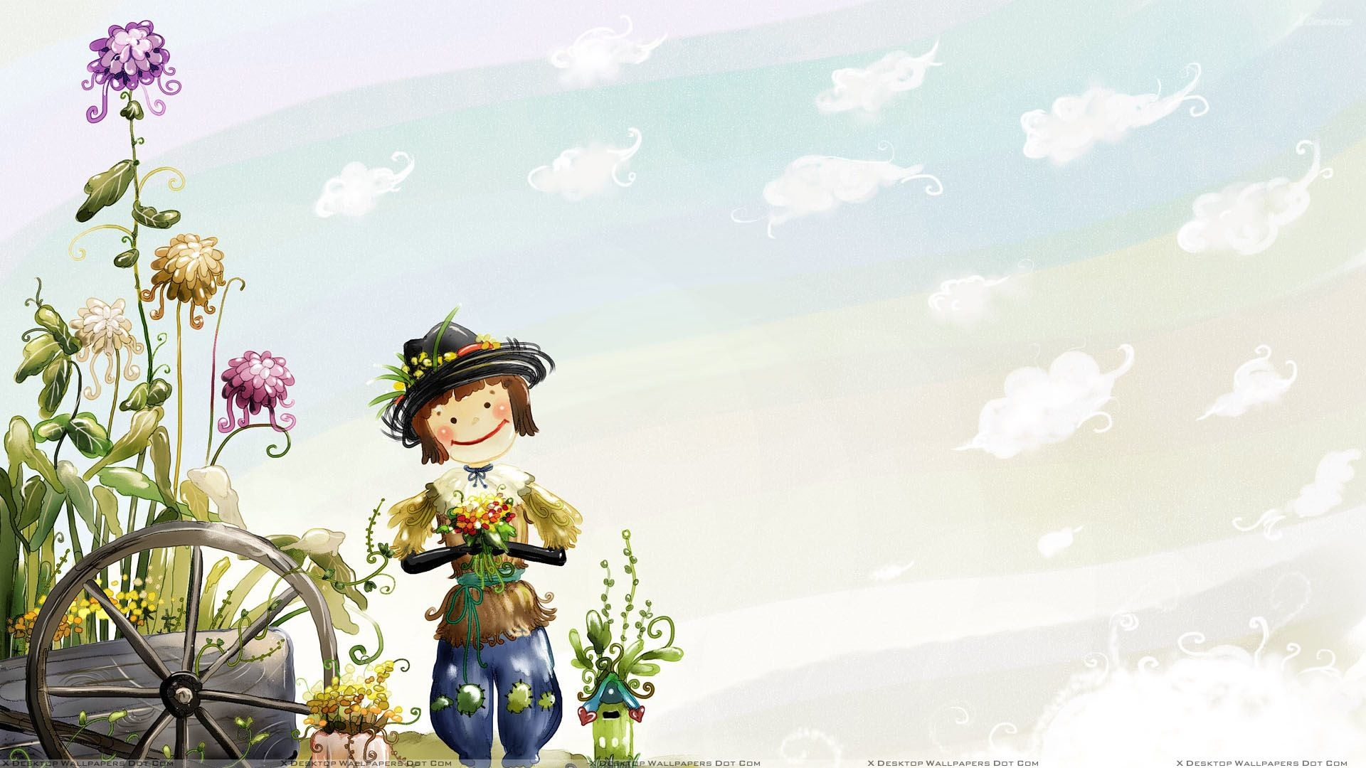 cute cartoon wallpapers for girls (46+ images)