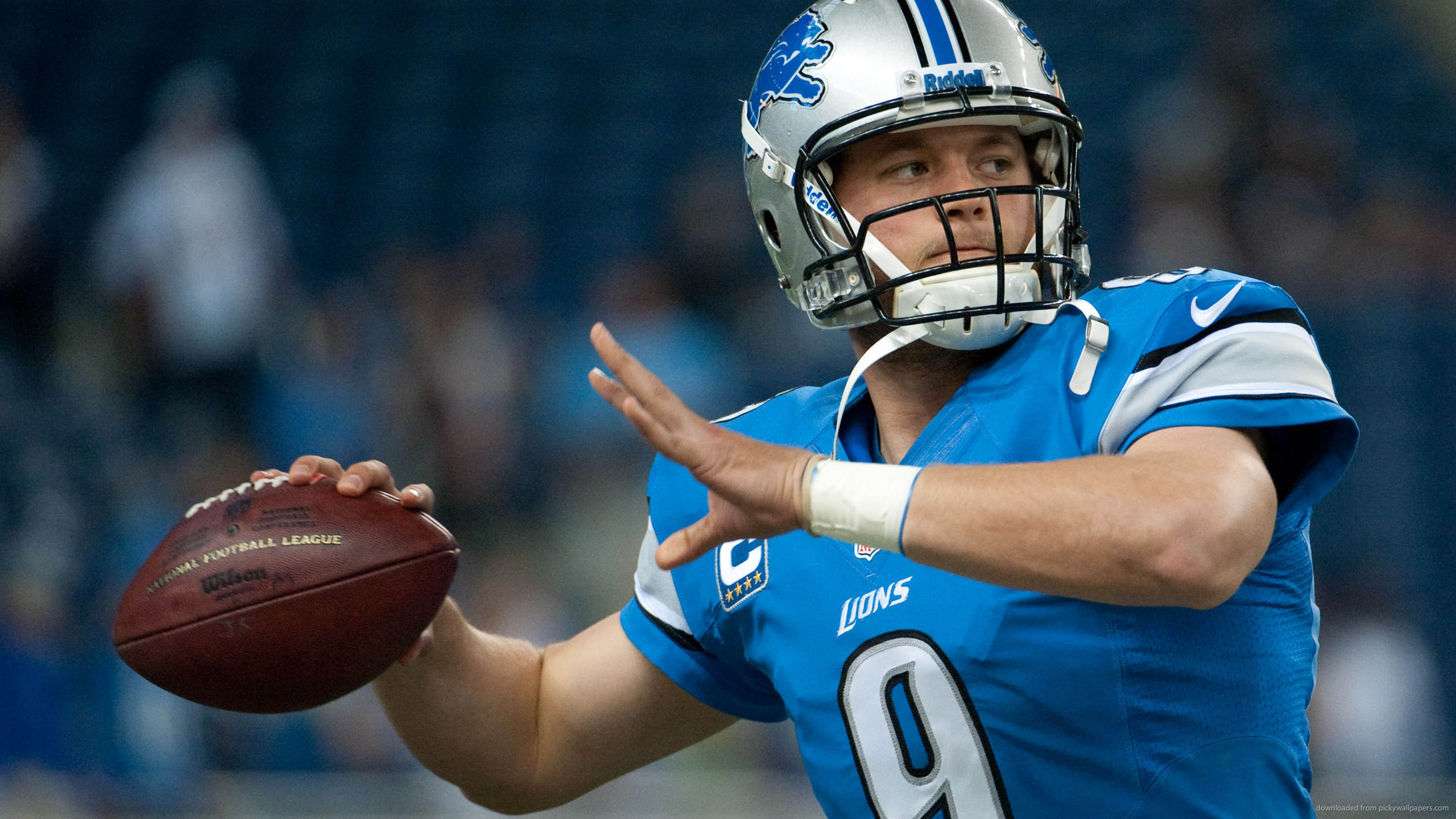 2560x1440 Detroit Lions Matthew Stafford for