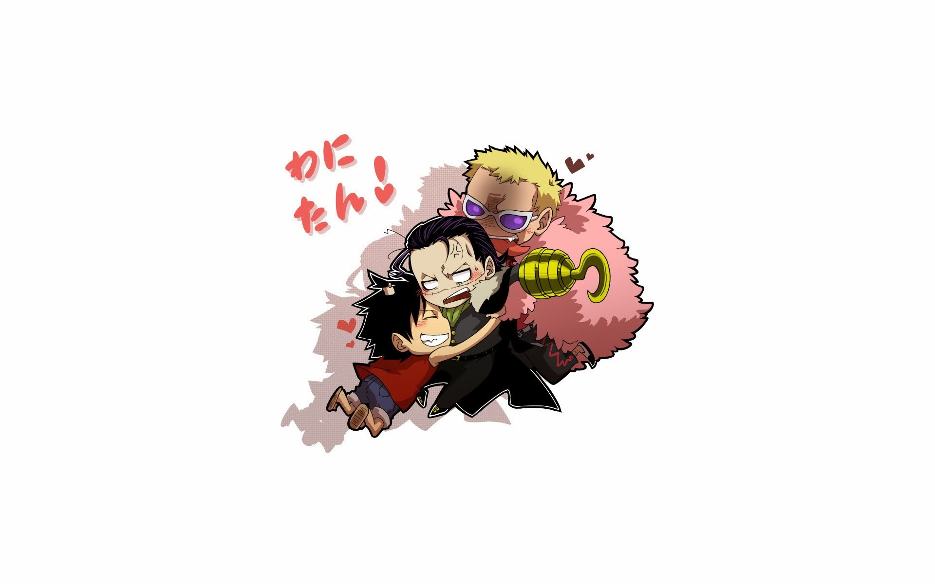 1920x1200 luffy crocodile and doflamingo one piece anime hd wallpaper