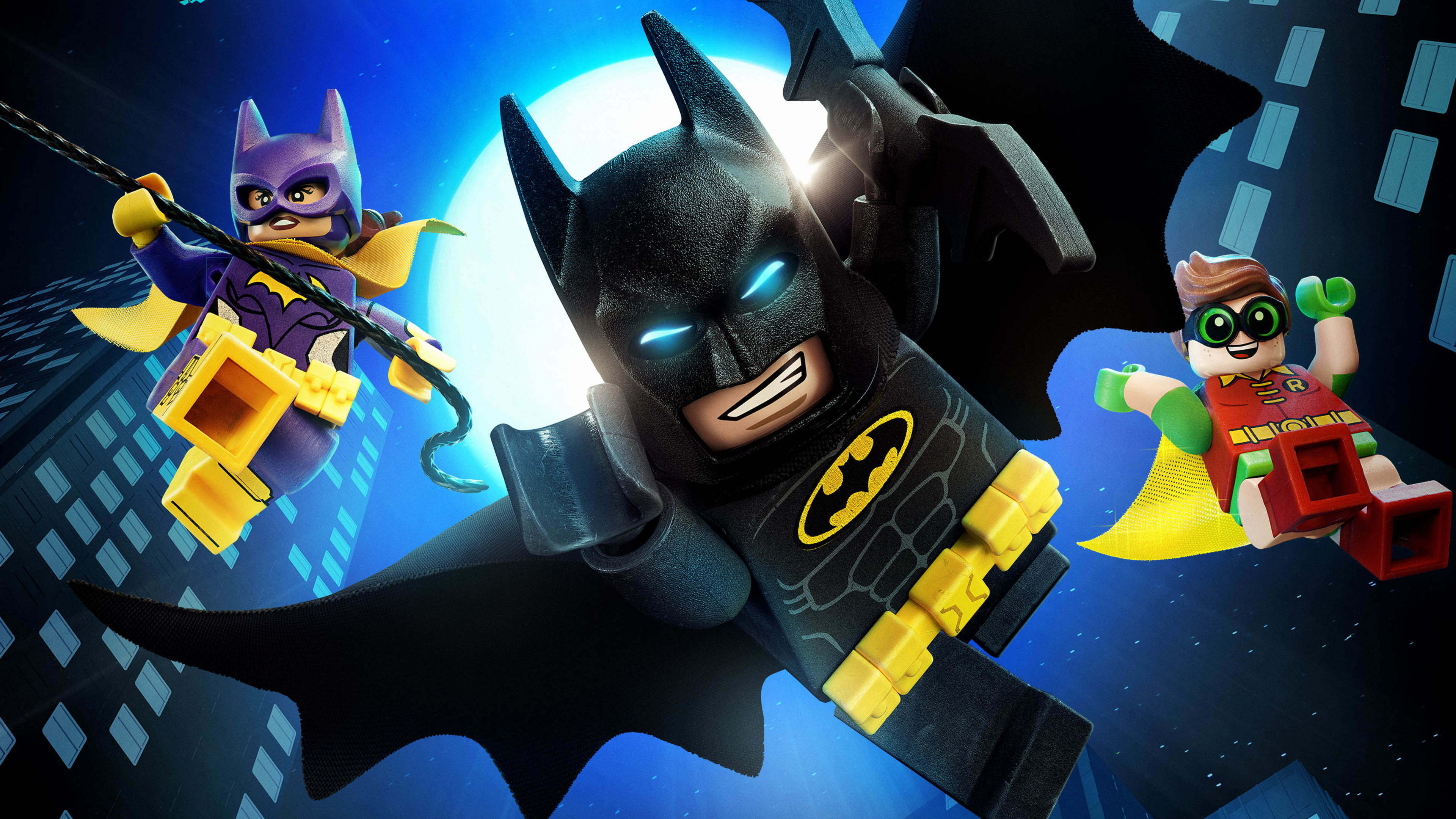 3840x2160 Batman, Batgirl & Robin - The Lego Batman Movie  wallpaper