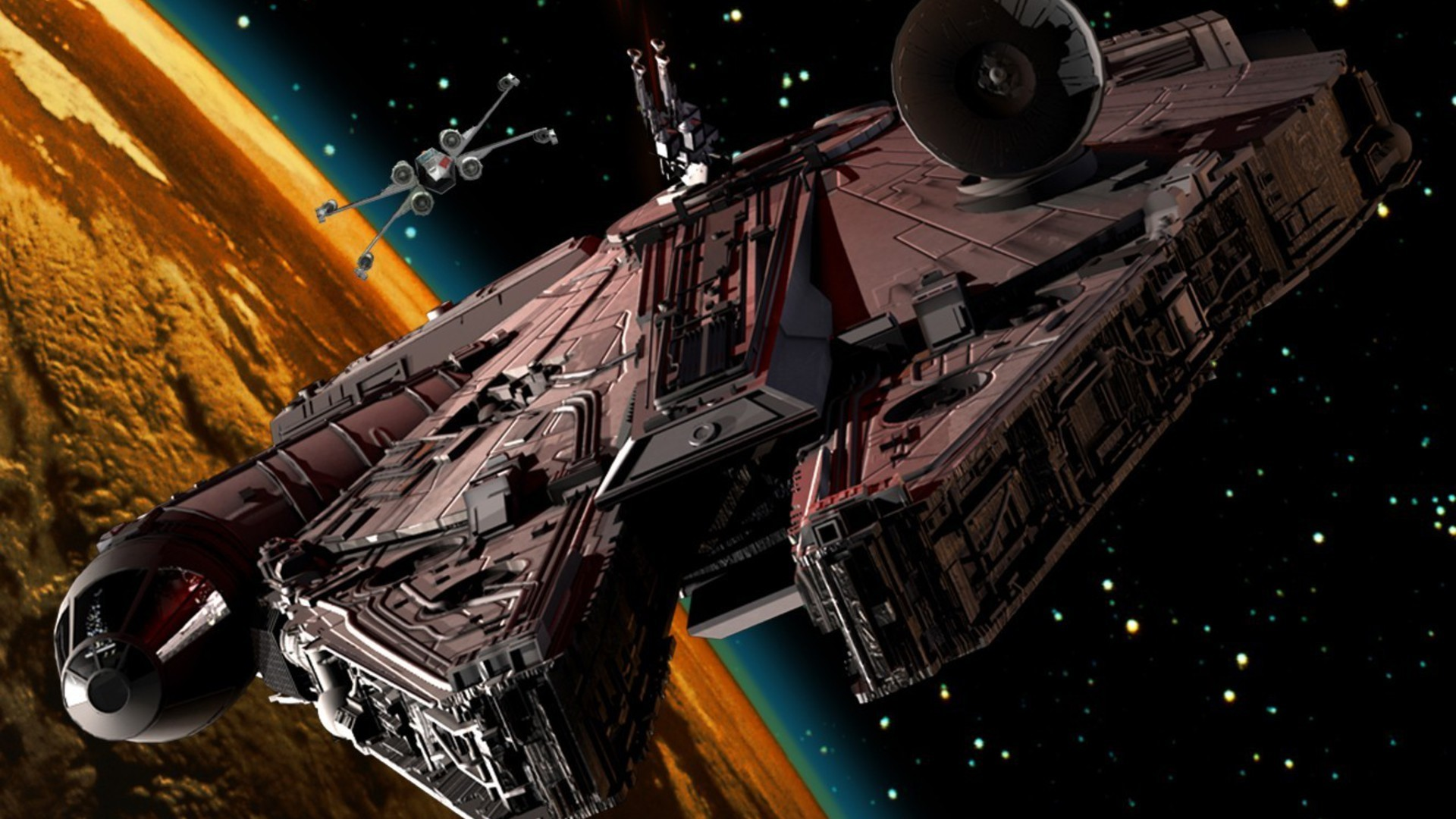1920x1080 Star Wars, Millennium Falcon, Y Wing Wallpapers HD / Desktop and .