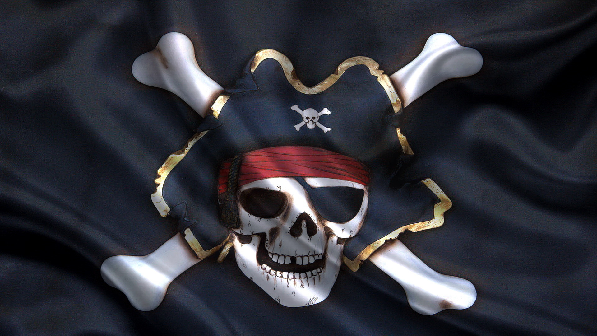 1920x1080 Awesome Pirate Flag Picture in HDQ