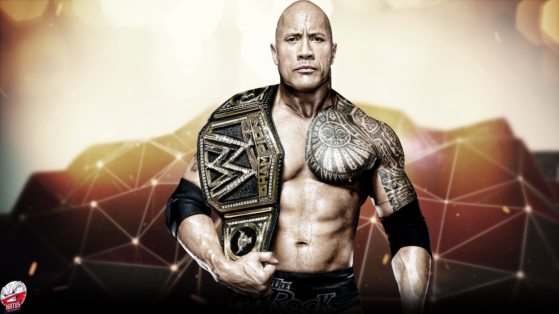 2880x1800 The Rock Wwe Super Star Free Hd Wallpaper