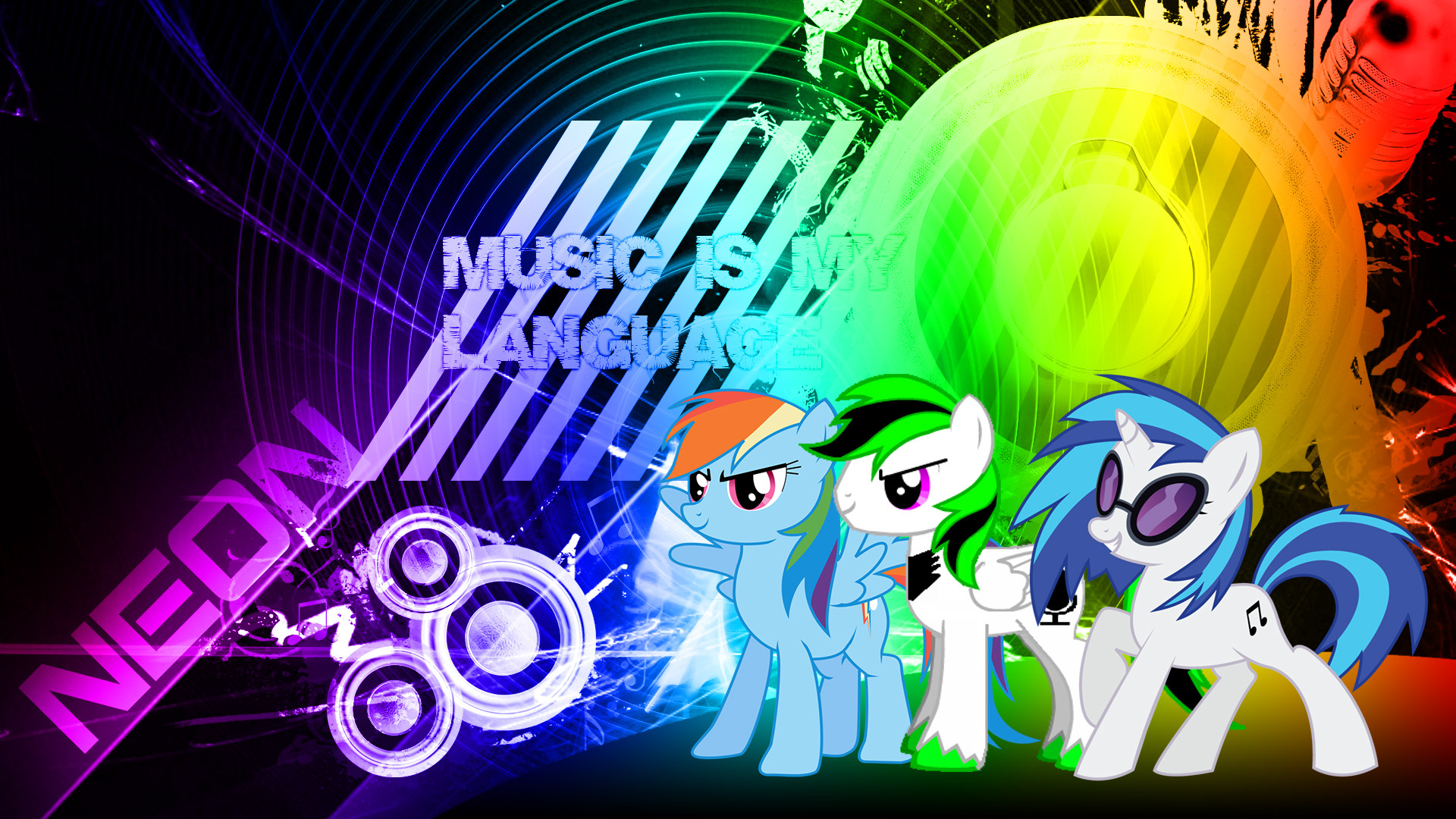 1920x1080 mlp music wallpaper neon by neonthepegasus fan art wallpaper other Neon  Music Note Wallpaper