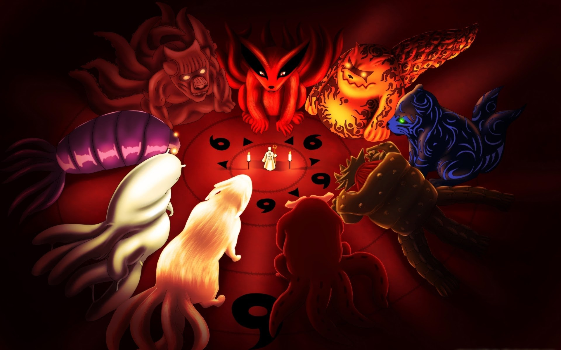1920x1200 naruto tailed beasts ...