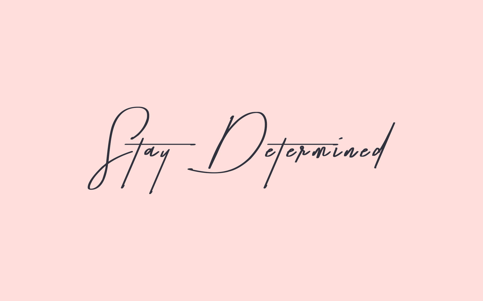 1920x1200 Keep yourself motivated with this cute pink + navy desktop wallpaper by