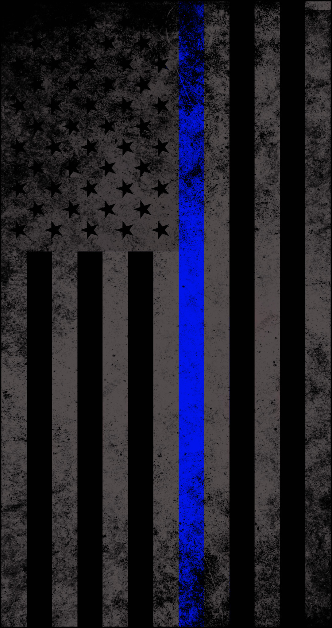 1082x2048 American Subdued Thin Blue Line Flag Decal