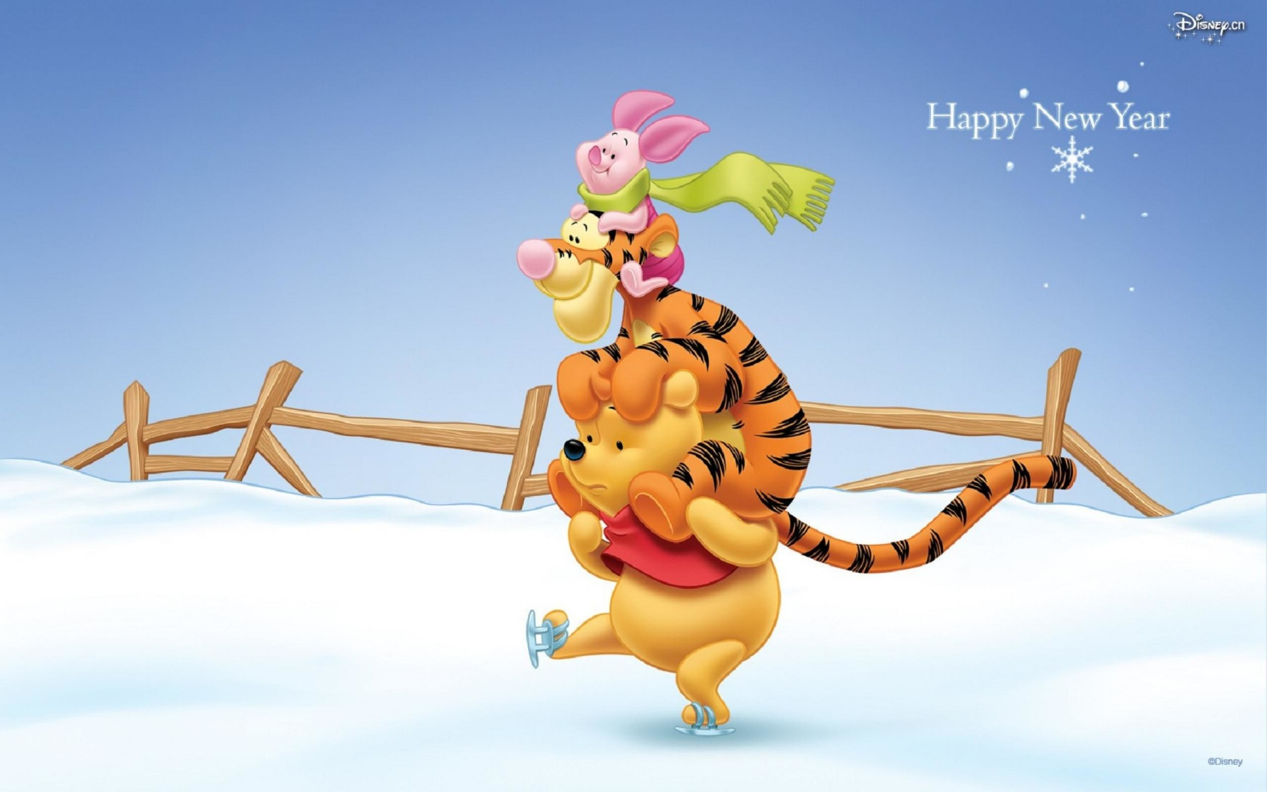 2560x1600 ... Winnie The Pooh New Year Wallpapers (05) ...