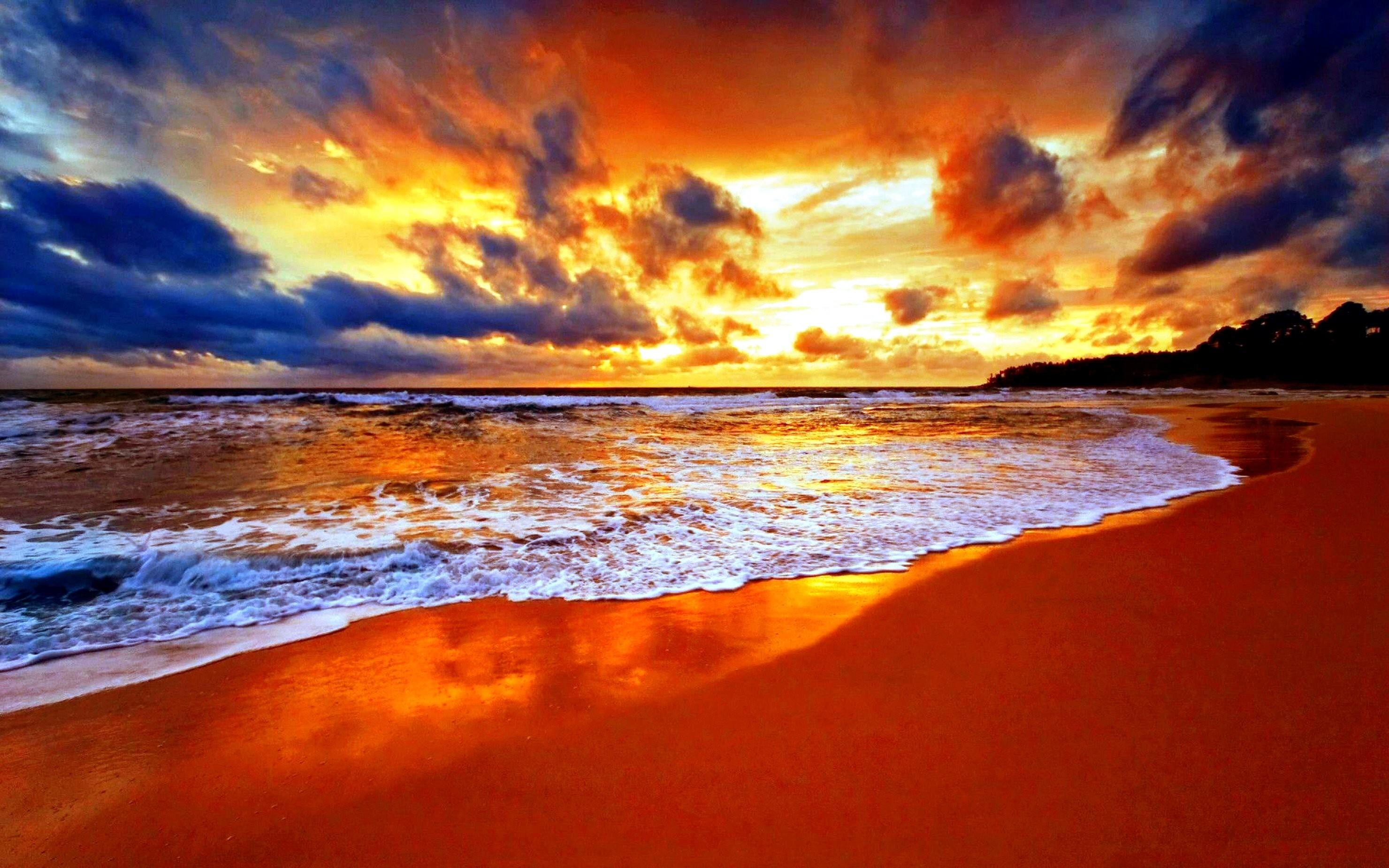 2960x1850 ... pretty sunset beach widescreen wallpaper beach wallpaper better ...