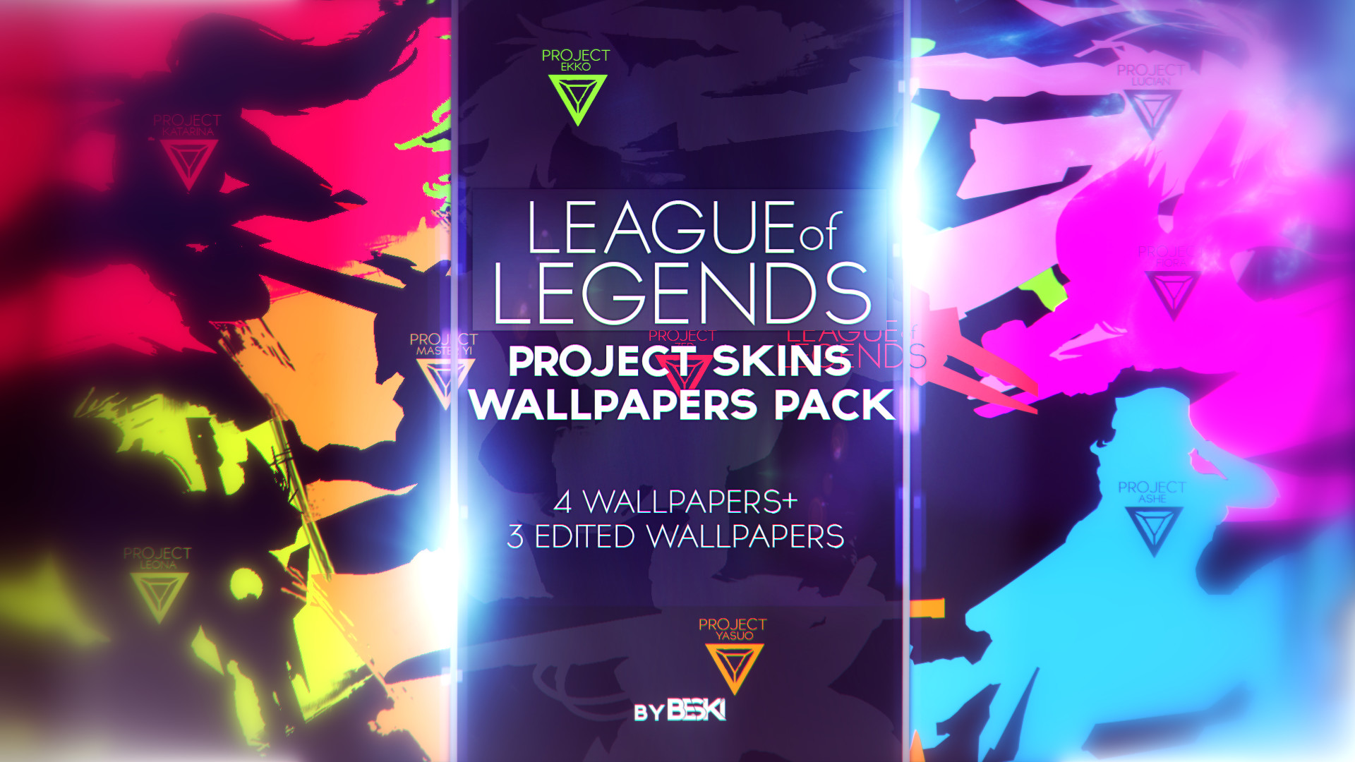 1920x1080 ... League of Legends Project Skins Wallpapers Pack by by Beszky