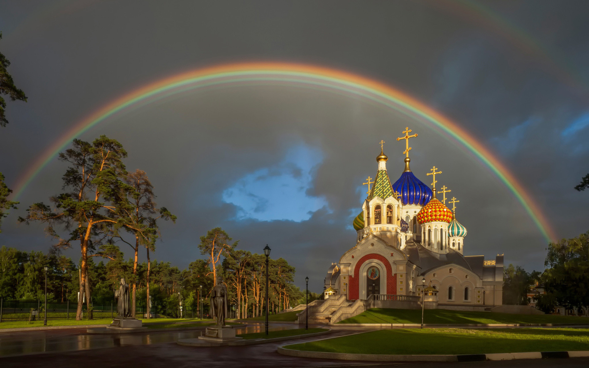 1920x1200 Wallpaper Ukraine Pryluky Chernigov oblast Fence Temples 1680x1050 Church  ...