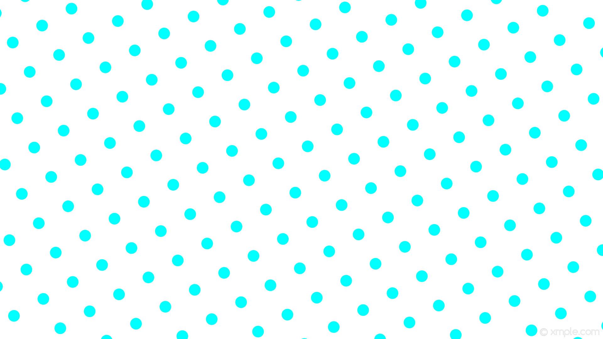 1920x1080 Wallpaper White Polka Dots Blue Spots Aqua Cyan Ffffff 00ffff 210A 37px
