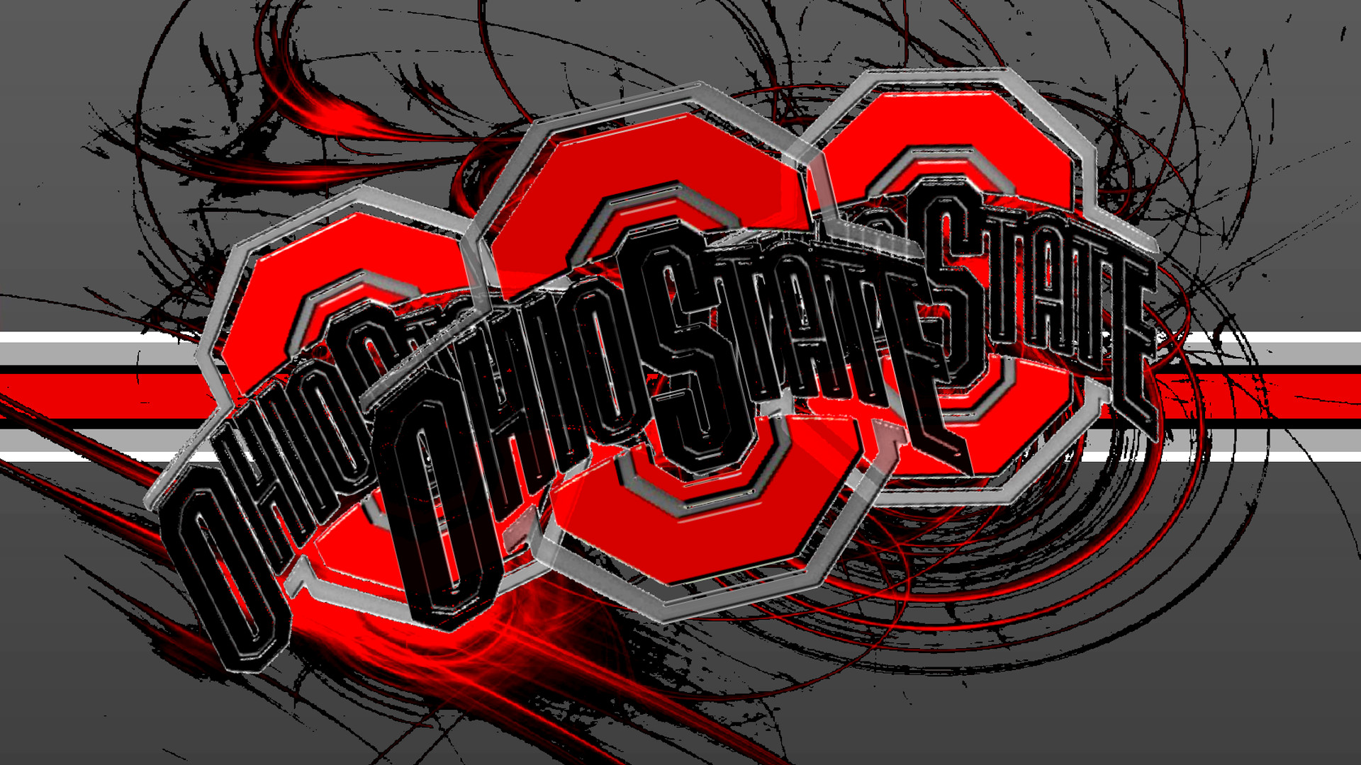 Scarlet And Gray Background