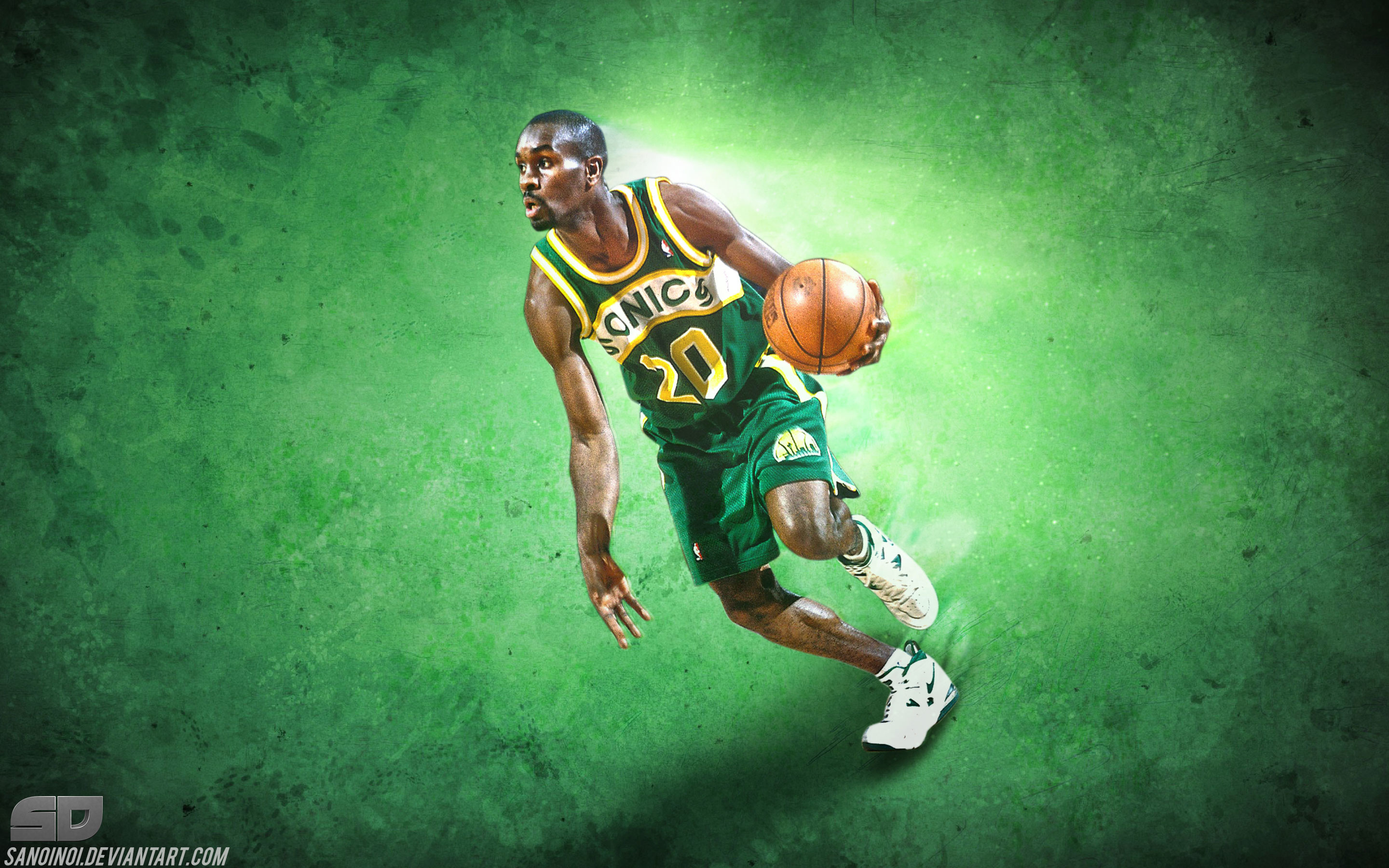 2880x1800 Gary Payton Sonics Legend  Wallpaper