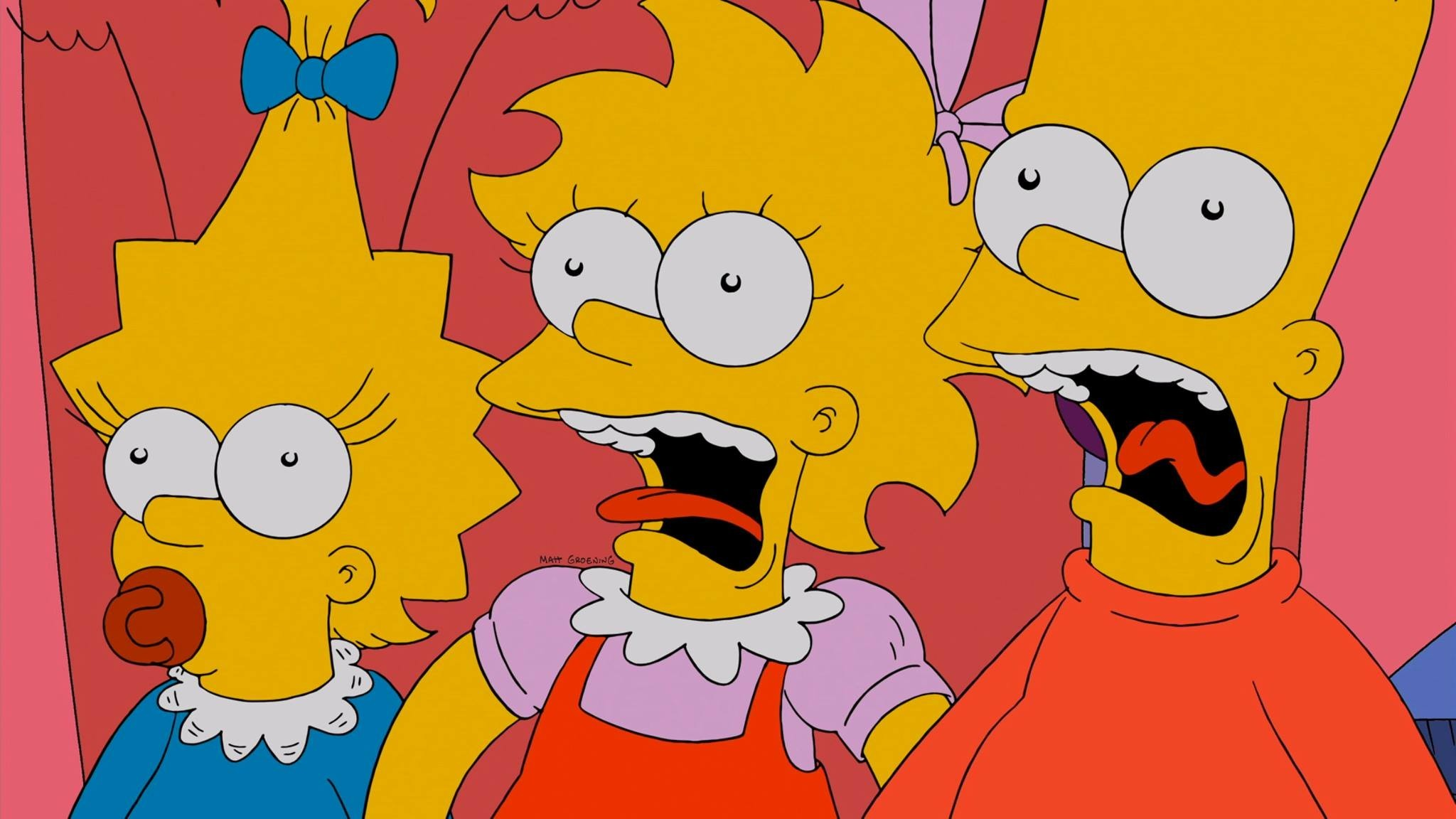 2048x1152 The Simpsons Lisa Simpson Bart Maggie Wallpapers HD Desktop
