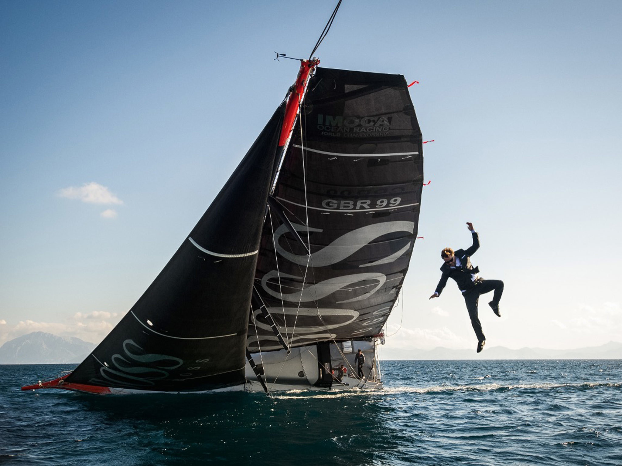 2048x1536 British yachtsman performs dare-devil jump from top of moving vessel whilst  wearing a suit - at least it's water proof | The Independent