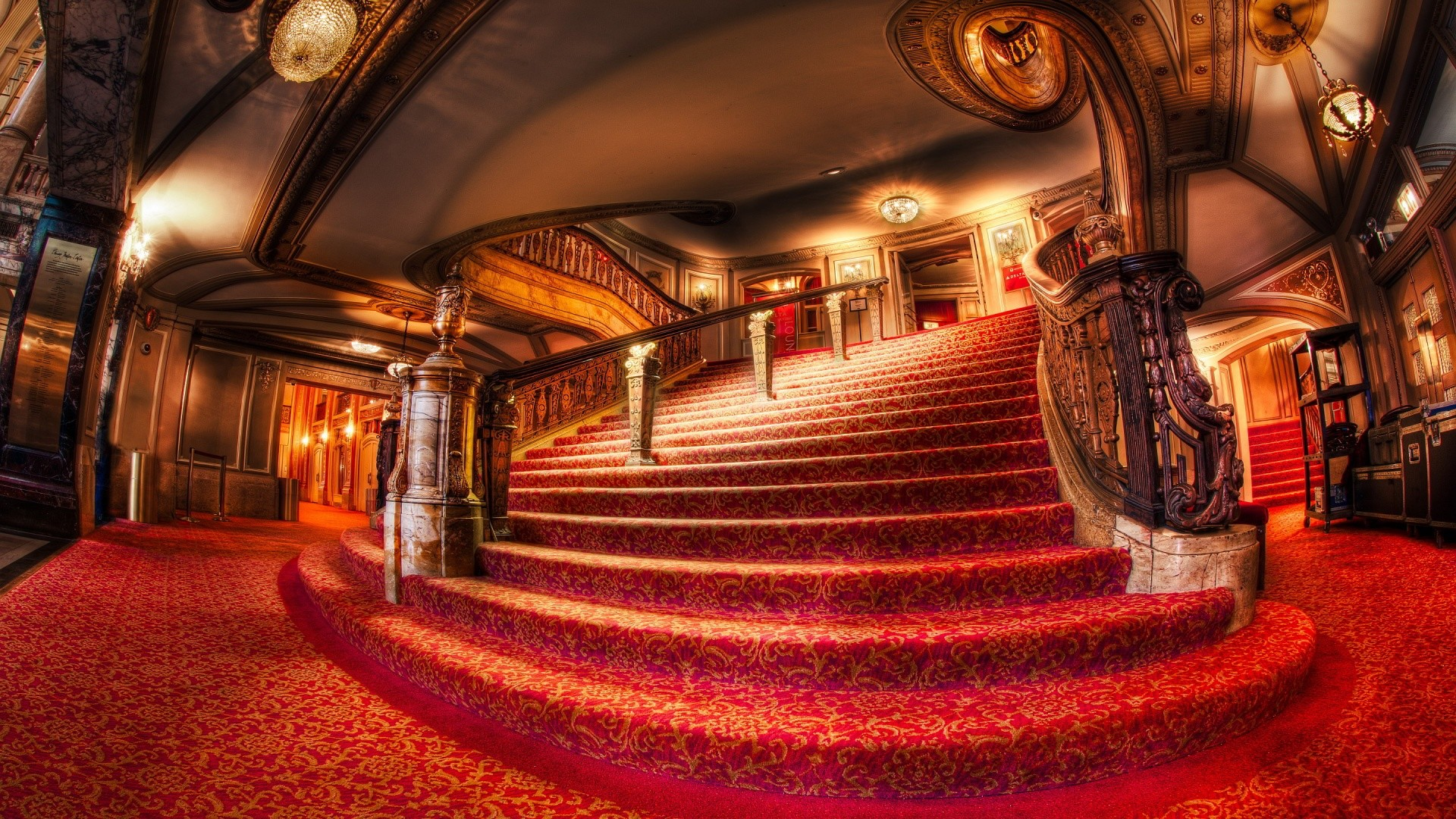 1920x1080 theater stairs wallpaper background 2449