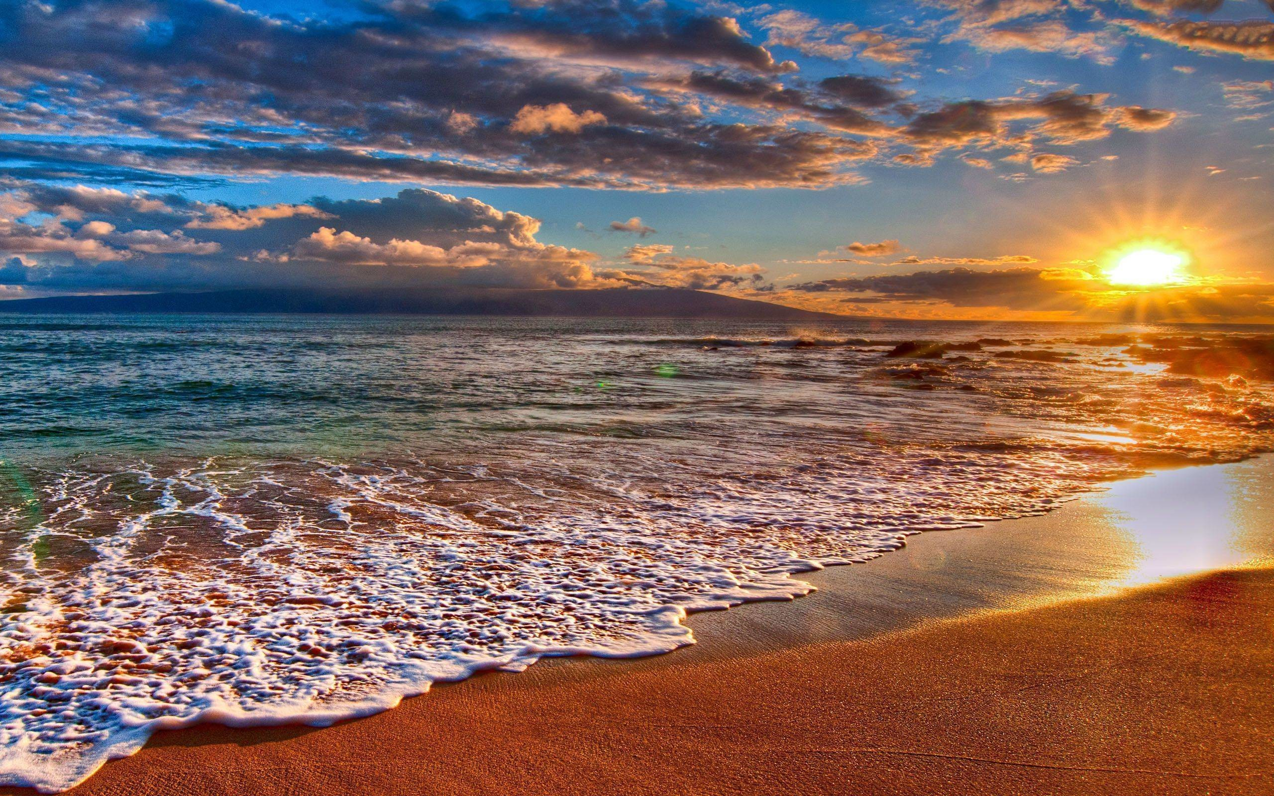 2560x1600 desktop backgrounds beach sunset wallpaper