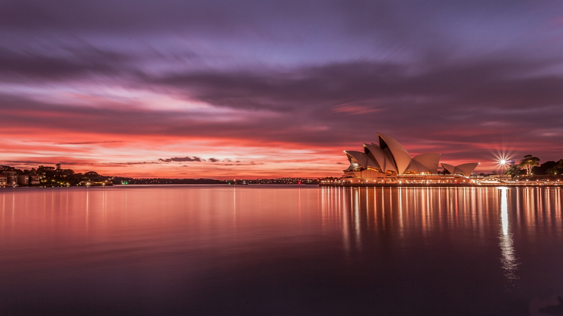 1920x1080 Preview wallpaper city, australia, sydney, opera, house, sunset