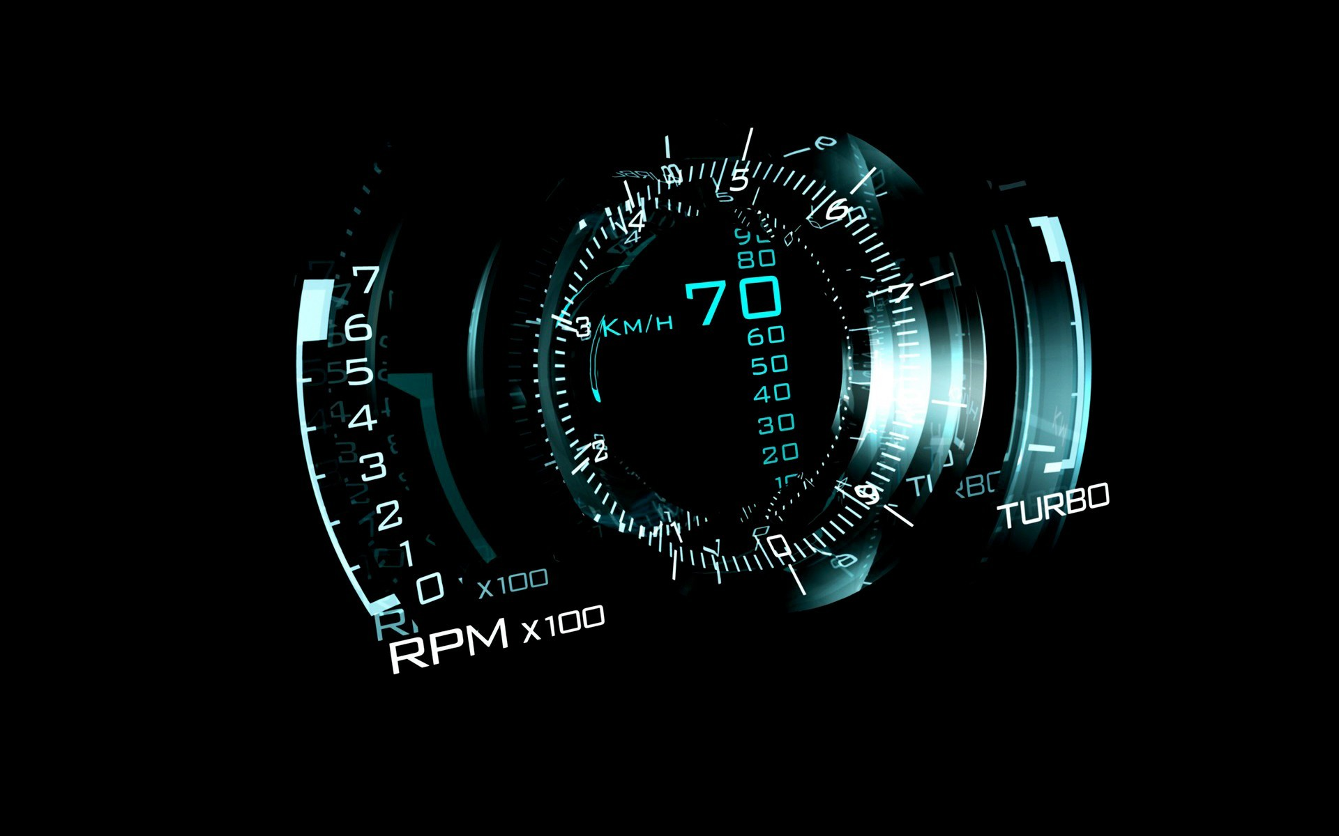 1920x1200 #HUD, #cyan, #dark, #black background, #car, #digital art, wallpaper