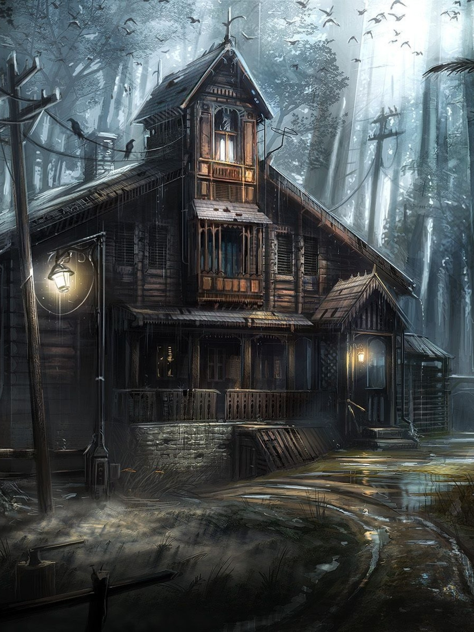 Haunted Forest Wallpaper (59+ images)