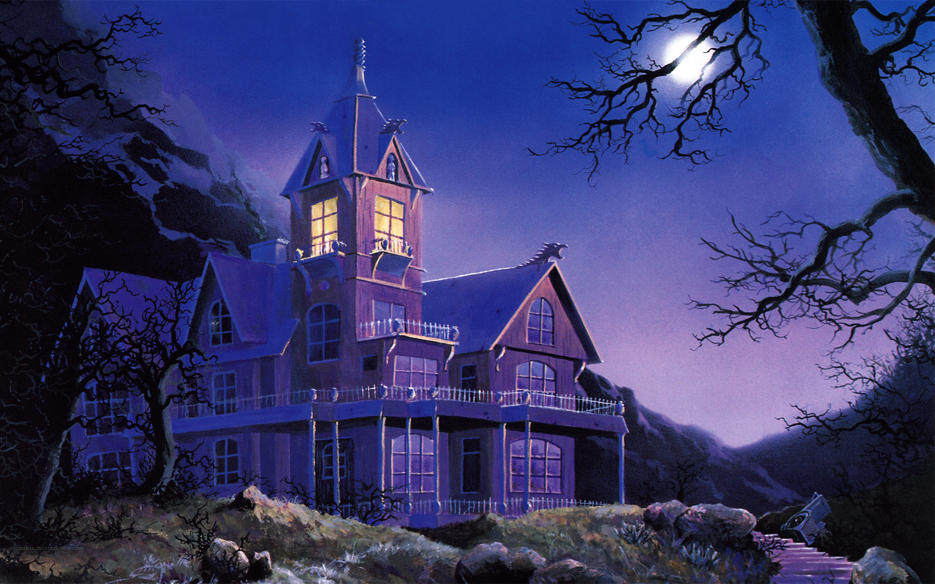 1920x1200 Music - King Diamond Album Cover Heavy Metal Metal Hard Rock Classic Haunted  Haunted House Halloween