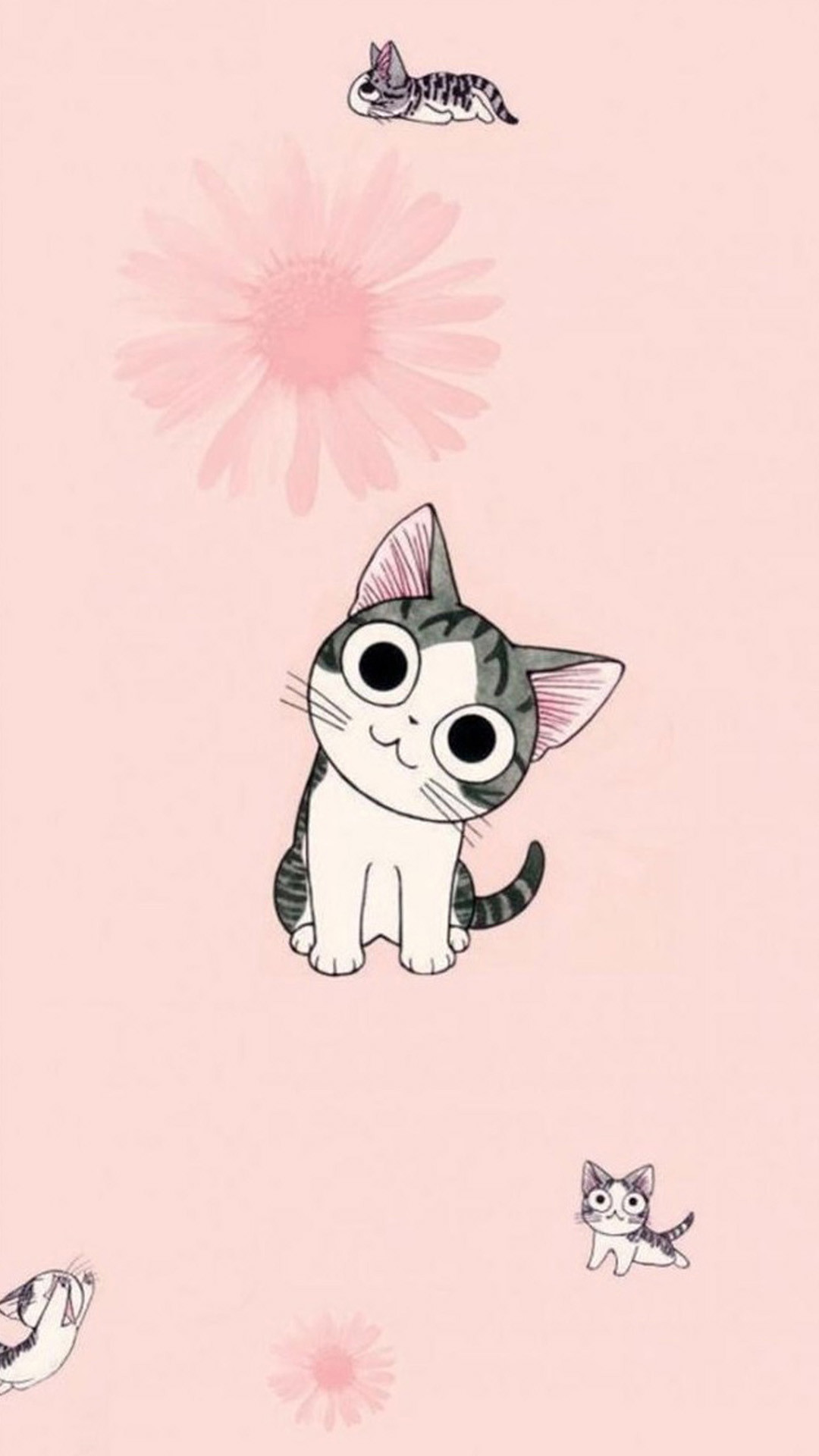 1080x1920 Funny Cartoon Cat iPhone Wallpaper Wallpaper