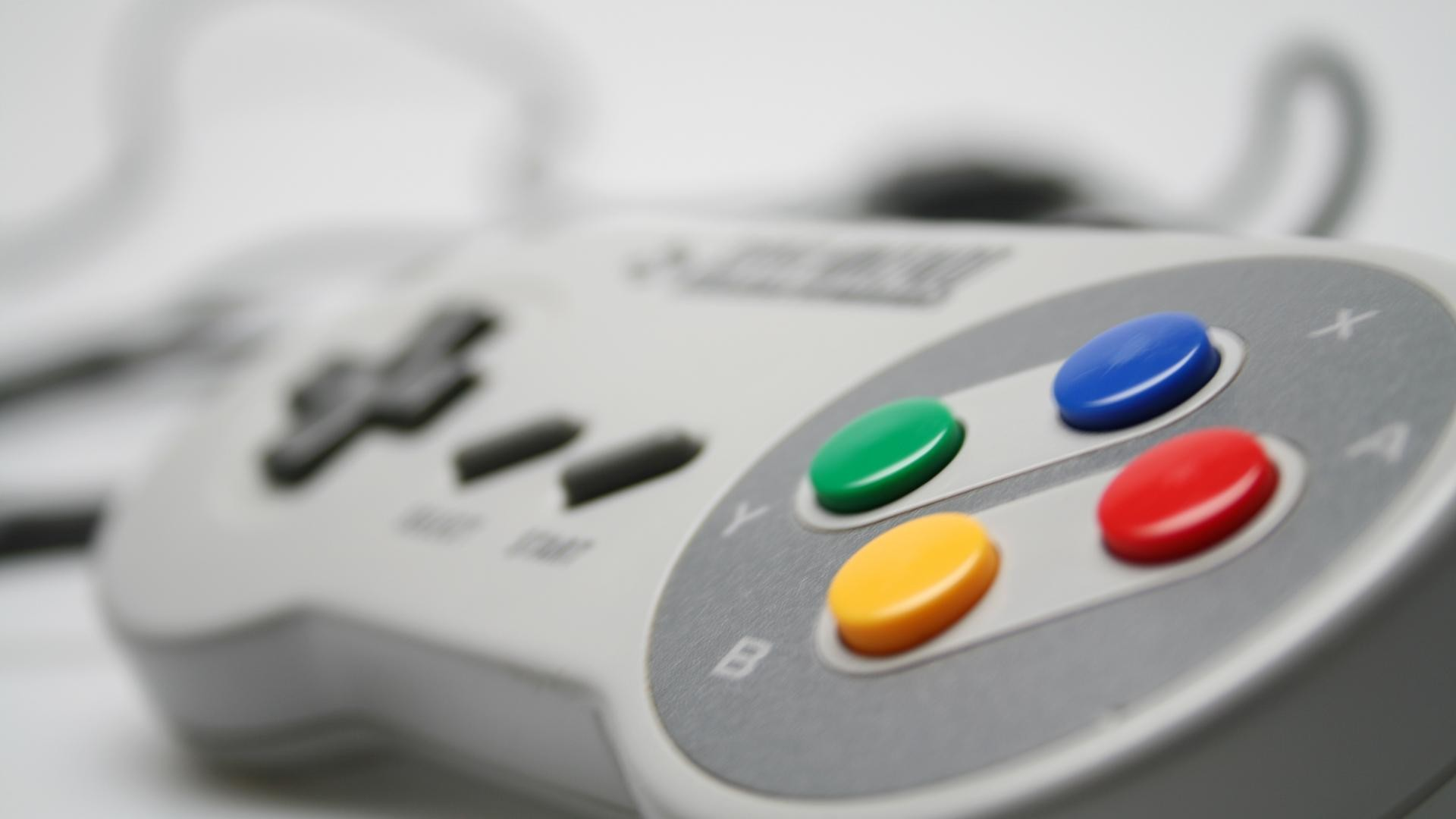 1920x1080 Super Nintendo Controller HD Wallpaper