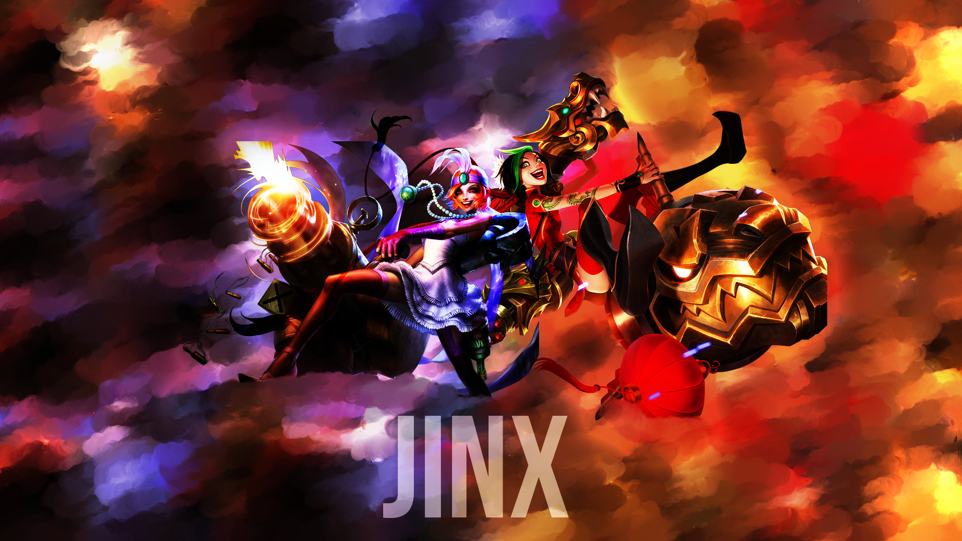 1920x1080 Mafia Firecracker Jinx Fan Art League of Legends Wallpapers