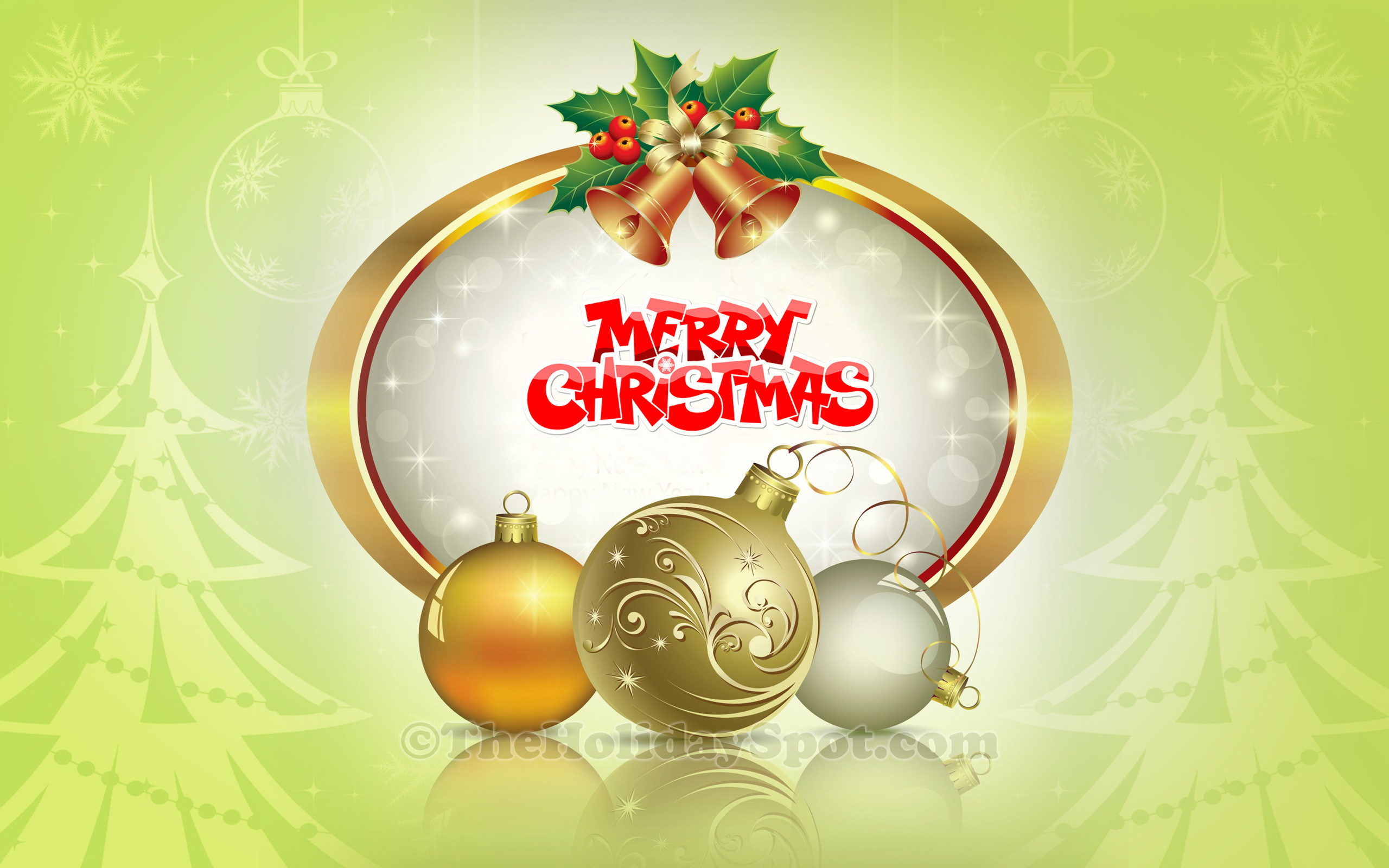 2560x1600 Merry Christmas Decoration Wallpaper