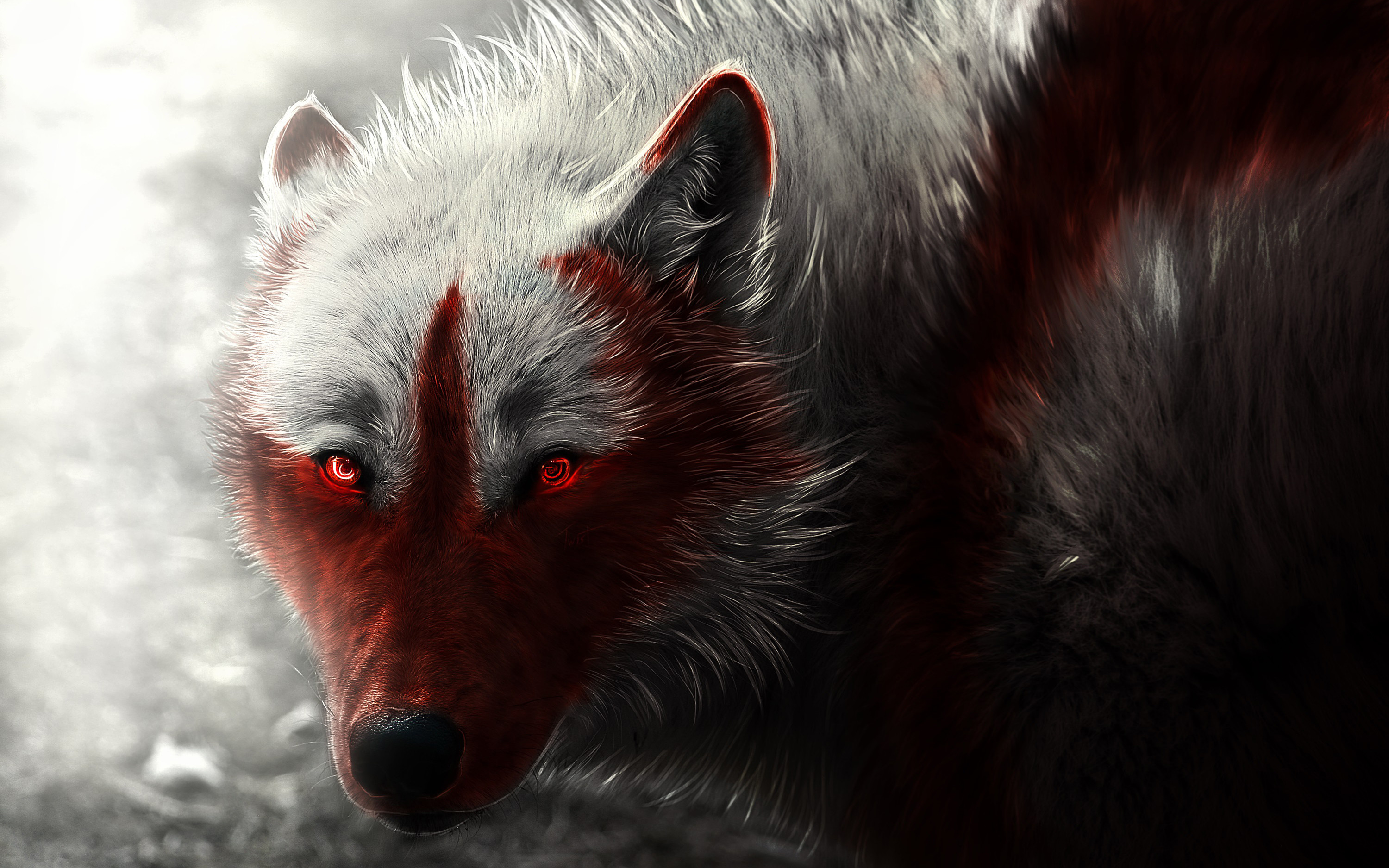 Scary Animal Wallpapers: Neon Wolf Wallpaper (54+ Images